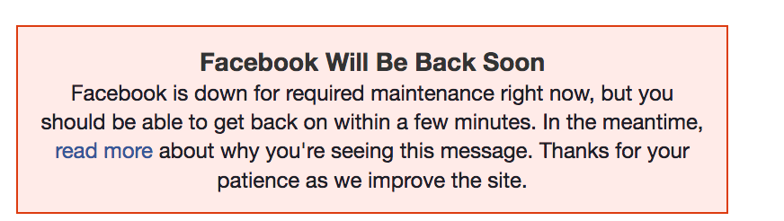 Facebook down: The world reconsidered the meaning of life