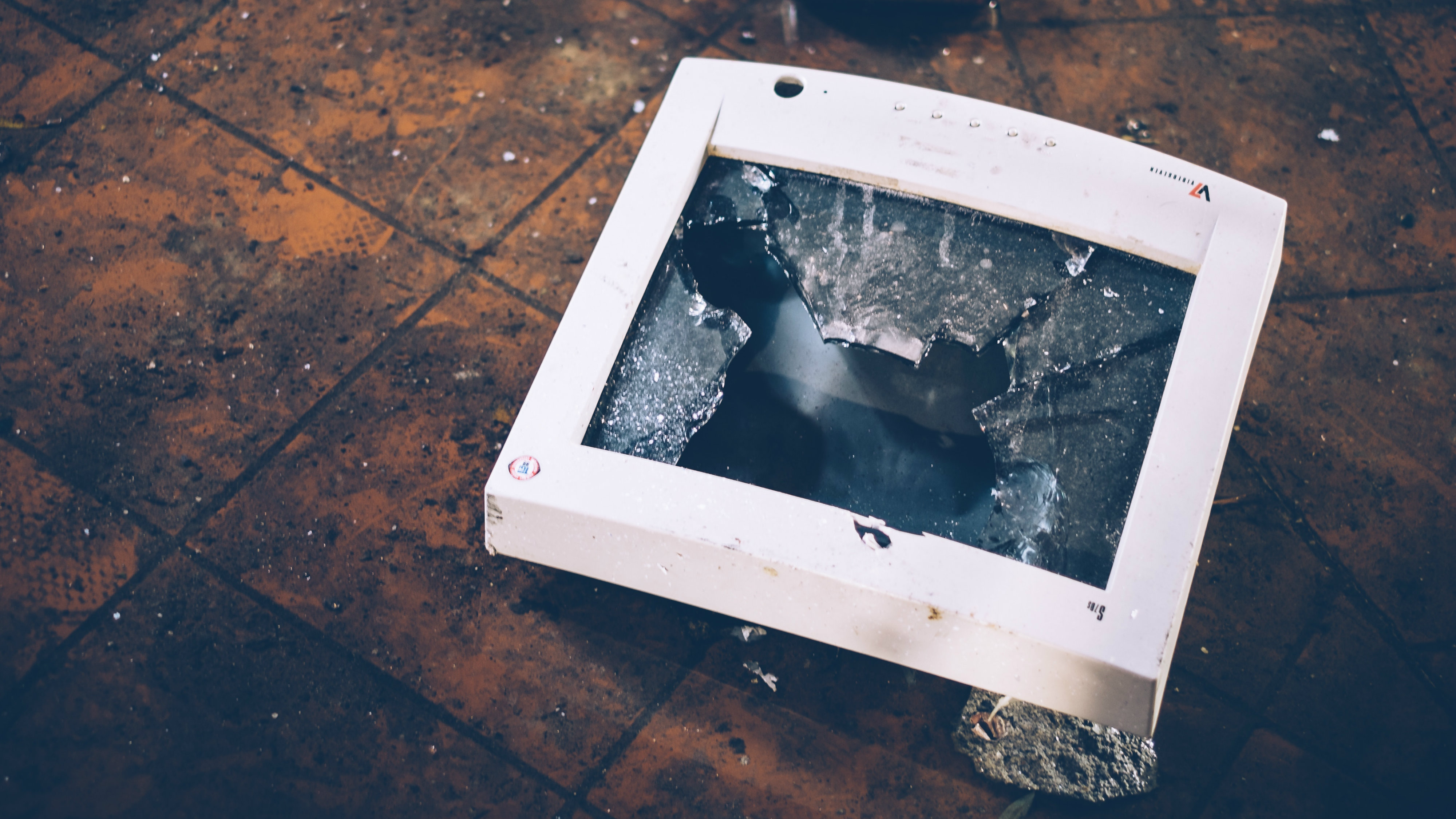 smashed computer