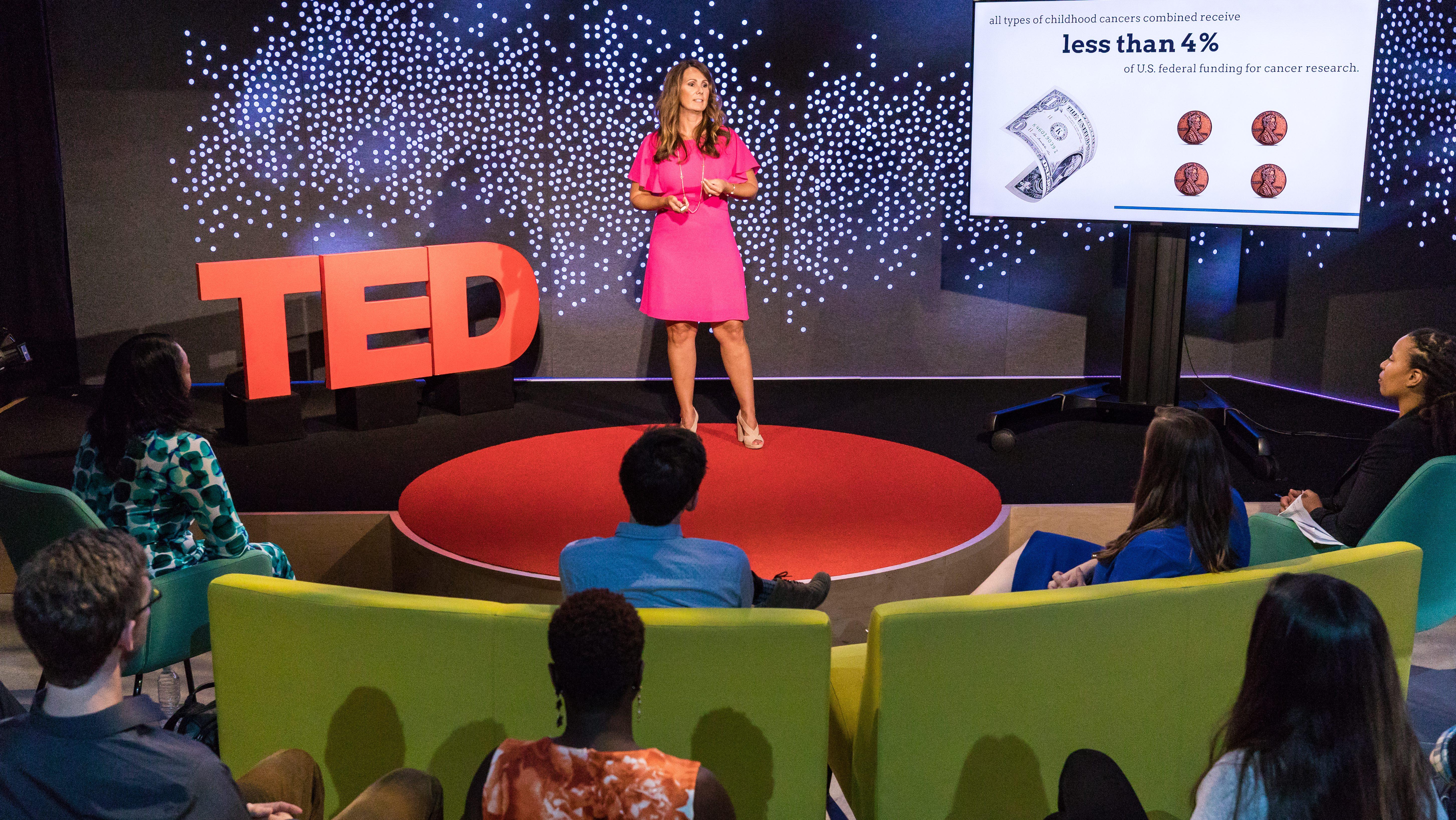 Amber Bender speaks at TEDNYC - TED Institute Logitech Spotlight Academy, July 17, 2017, New York, NY. Photo: Ryan Lash / TED