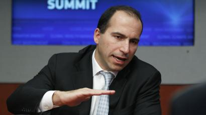 Expedia CEO Dara Khosrowshahi speaks during the 2010 Reuters Travel and Leisure Summit in New York February 22, 2010.