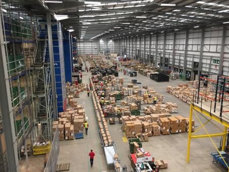 ASOS' Barnsley, UK, warehouse