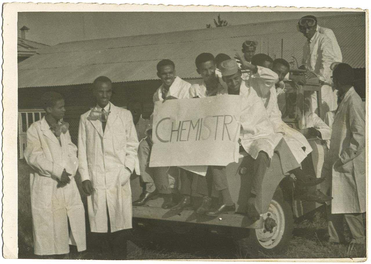 Chemistry students 1966 Vintage Addis Ababa