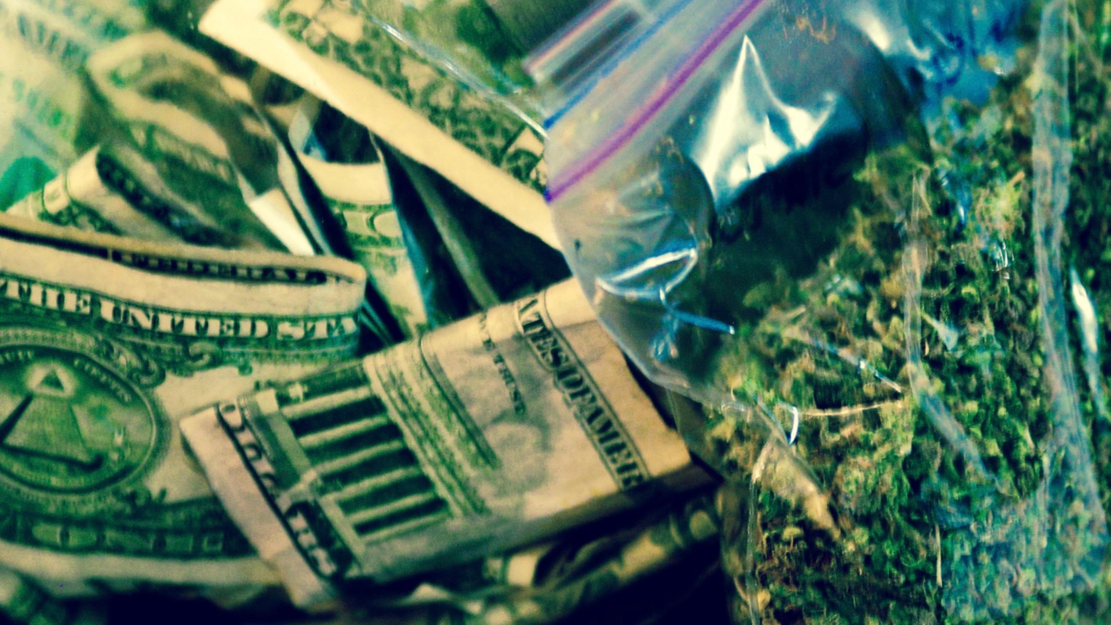 Marijuana and cash.