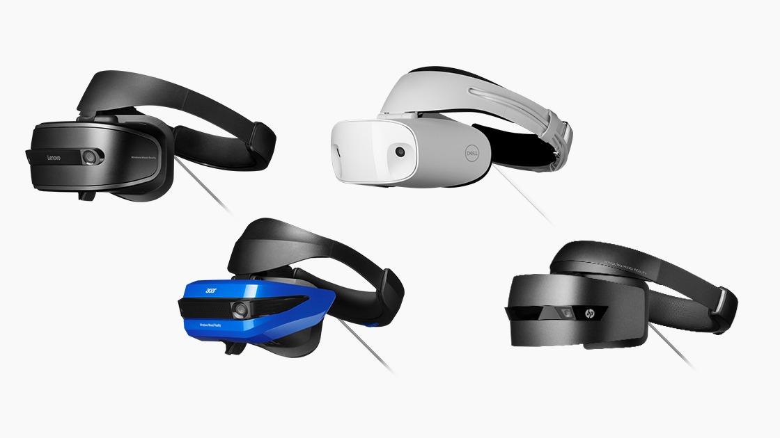 Microsoft's Windows Mixed Reality headset and companion motion