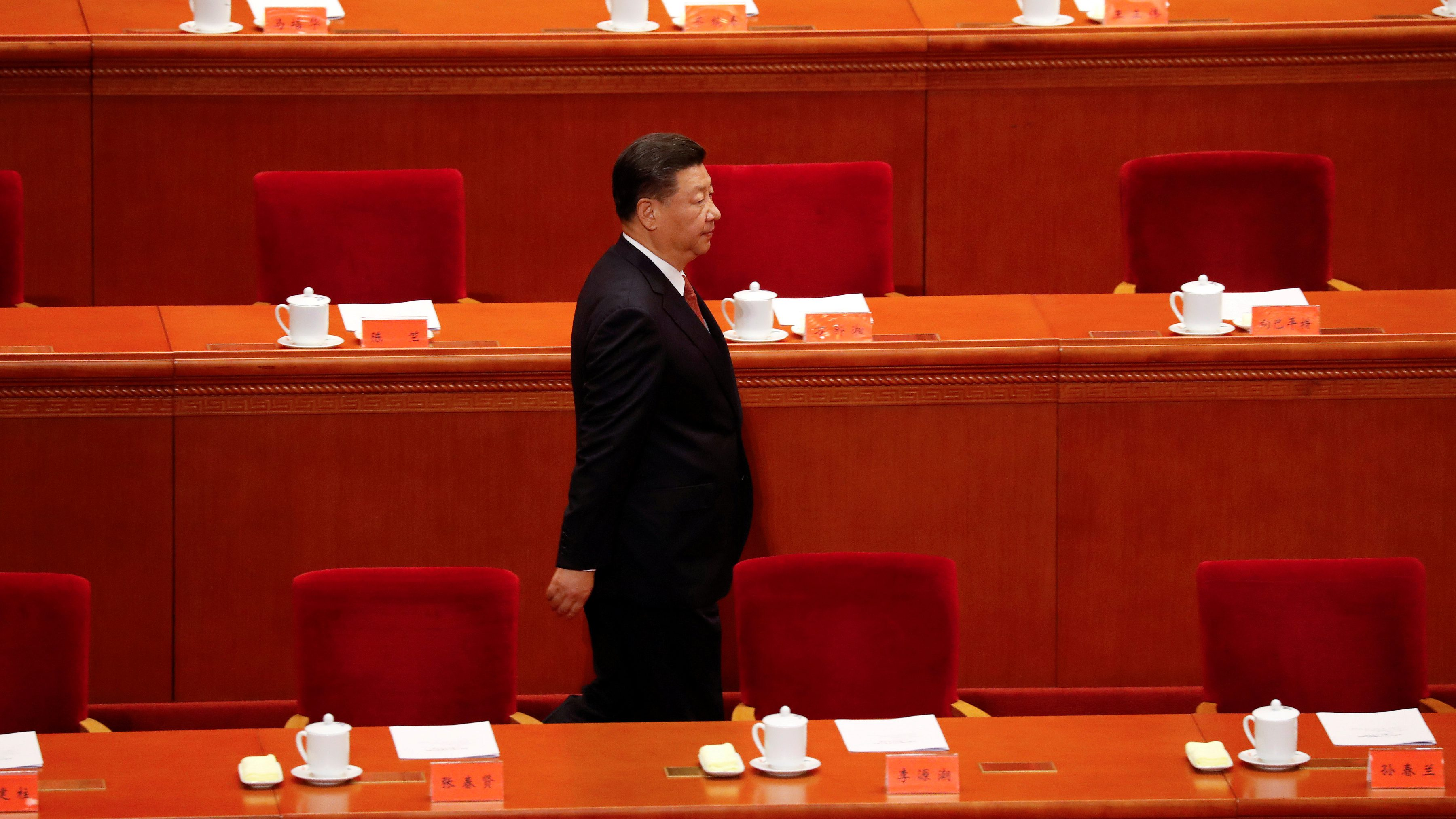 China's President Xi Jinping arrives for the ceremony to mark the 90th anniversary of the founding of the China's People's Liberation Army at the Great Hall of the People in Beijing, China August 1, 2017.