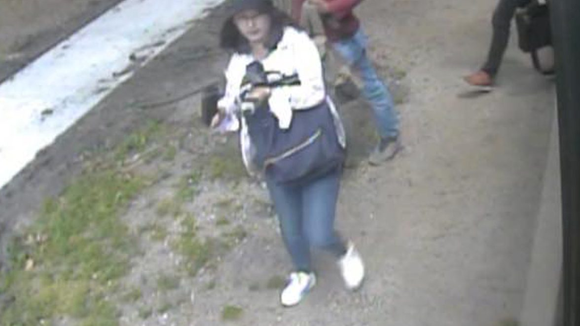 Chinese student Yingying Zhang is seen in a still image from security camera video taken outside an MTD Teal line bus in Urbana, Illinois, U.S. June 9, 2017.
