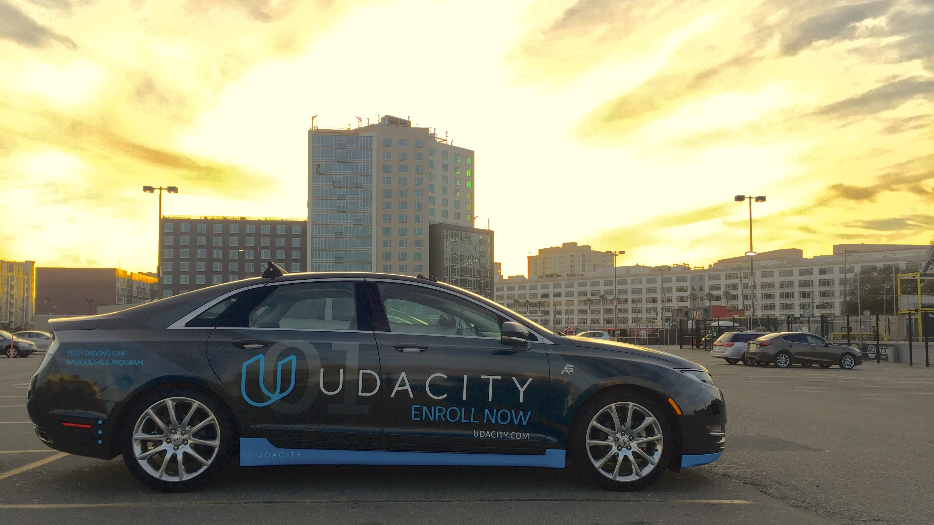 A self-driving Udacity car.