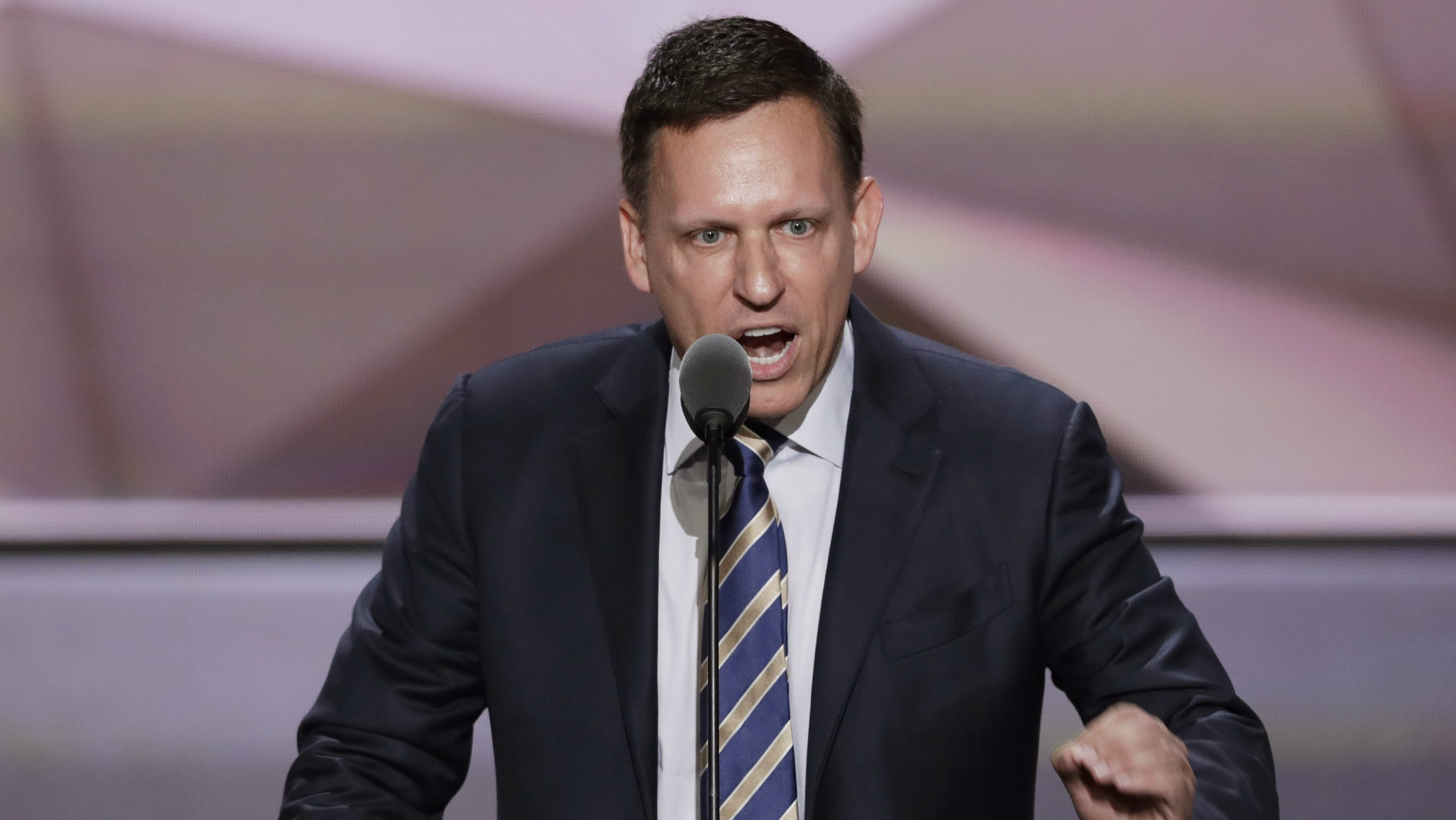 FILE - In this July 21, 2016, file photo, entrepreneur Peter Thiel speaks during the final day of the Republican National Convention in Cleveland. Thiel was able to gain New Zealand citizenship in 2011 despite never having lived in the country because a top lawmaker decided his entrepreneurial skills and philanthropy were valuable, documents reveal. Thiel didn't even have to leave California to become a new member of the South Pacific nation. (AP Photo/J. Scott Applewhite, File)