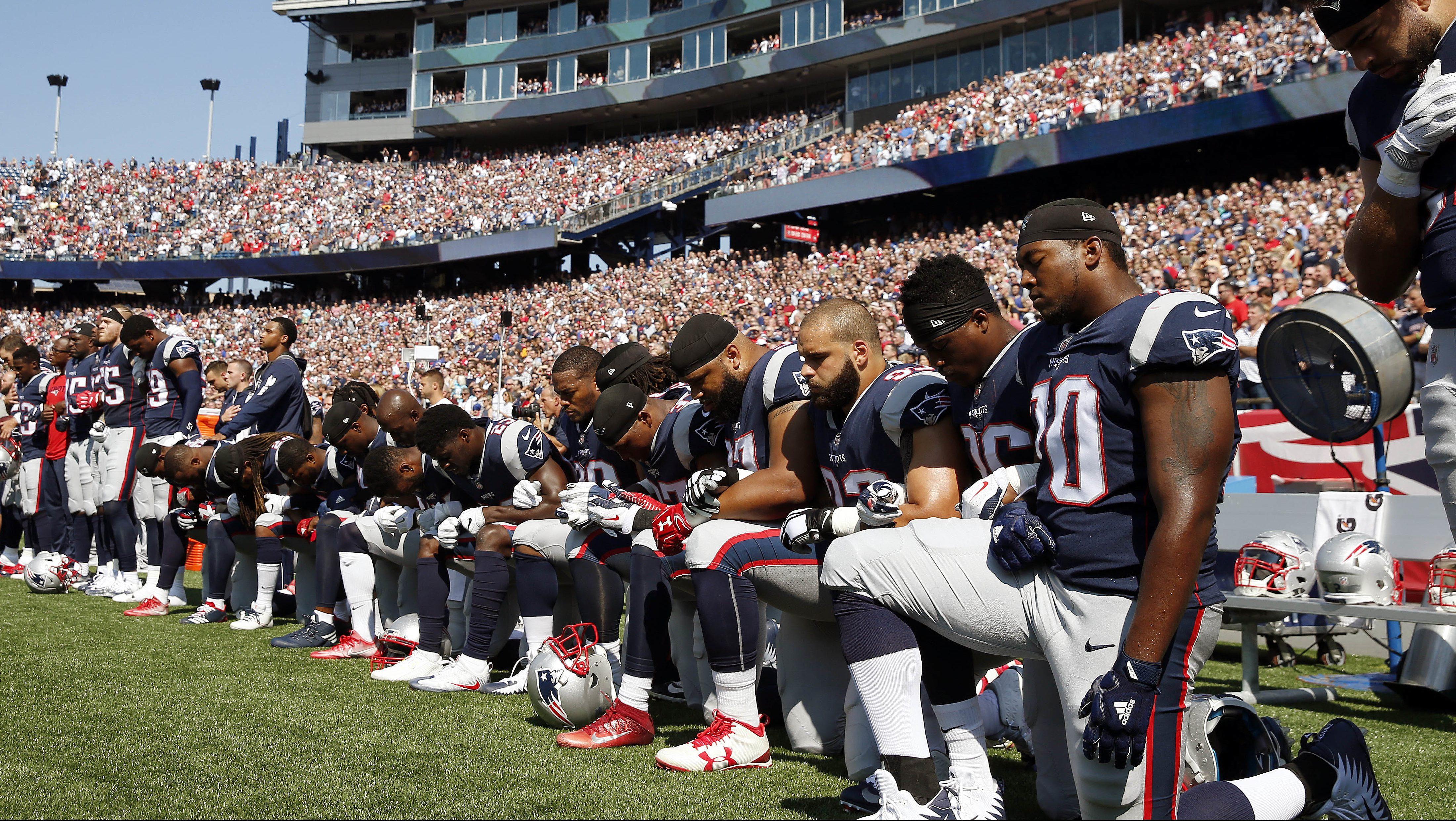 Texans Patriots Football NFL national anthem protests