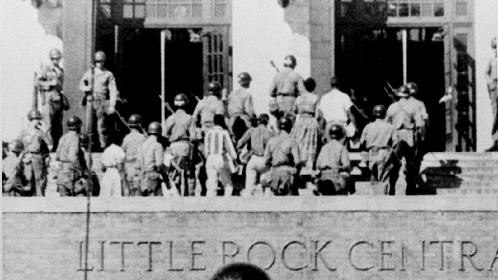 Photos: Sixty years ago, nine black students in Little Rock were escorted  into a white school