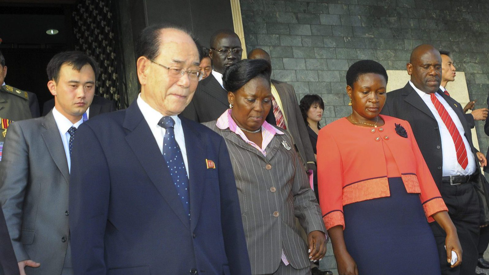North Korean officials in Uganda