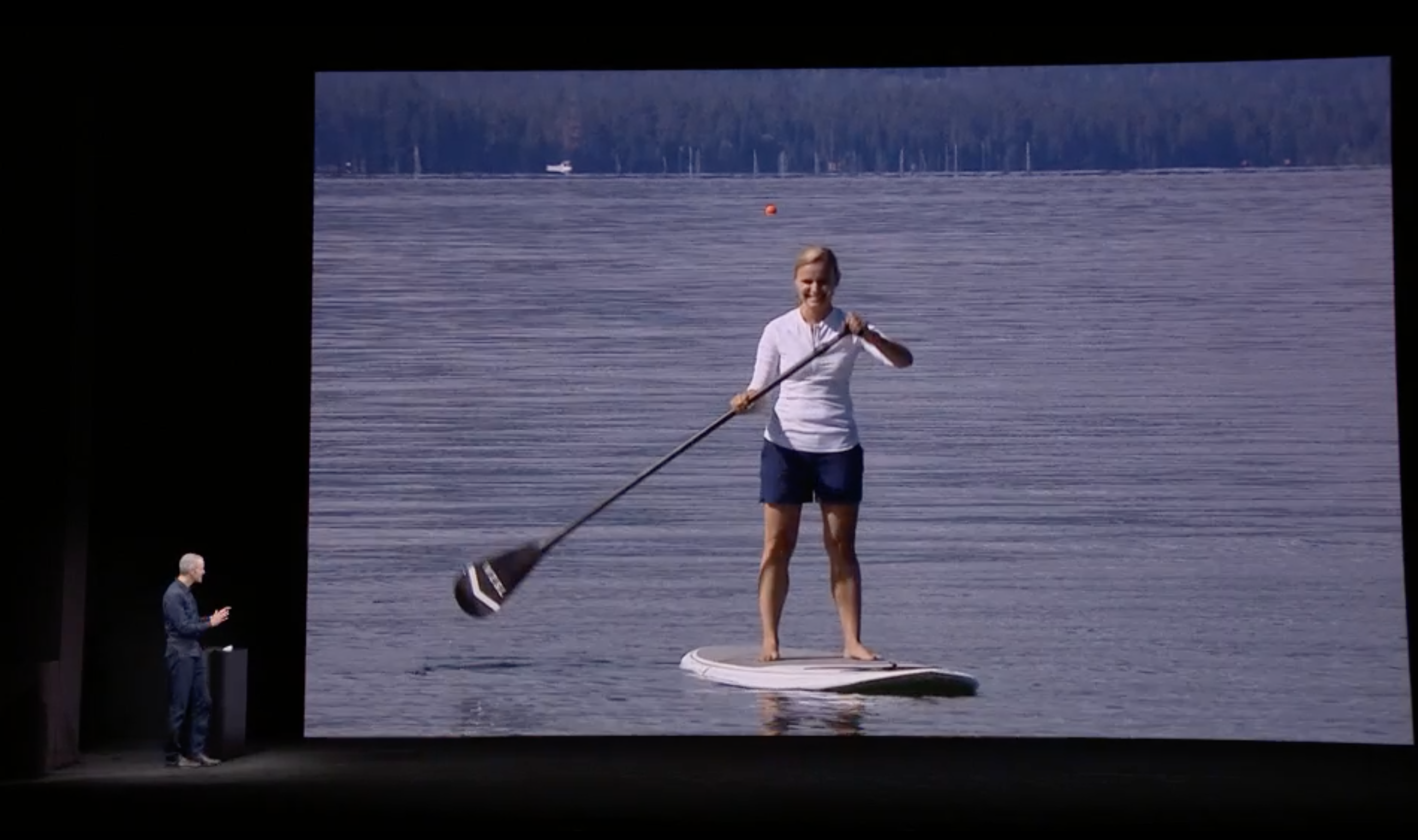 Apple Watch 3 paddleboard demo
