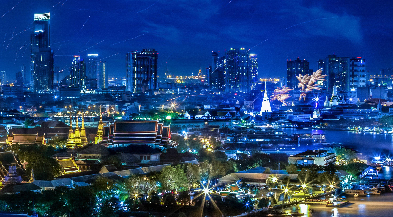 Bangkok at night.