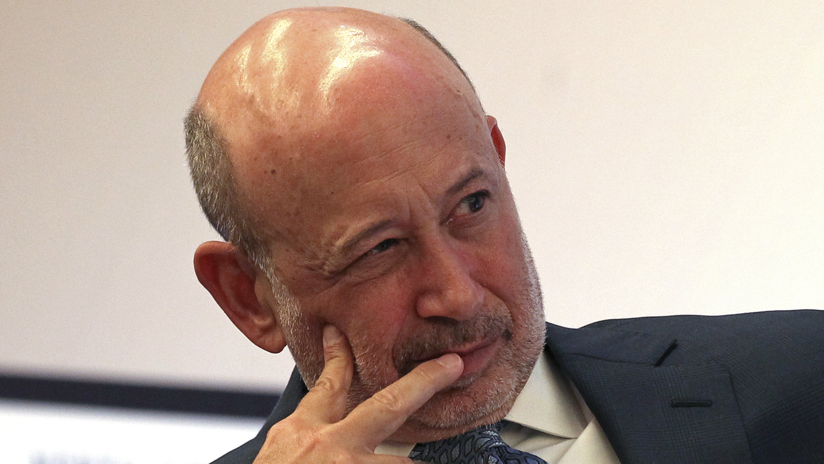 Goldman Sachs Group, Inc. Chairman and Chief Executive Lloyd Blankfein moderates a panel discussion at the North American Energy Summit in the Manhattan borough of New York, June 10, 2014.