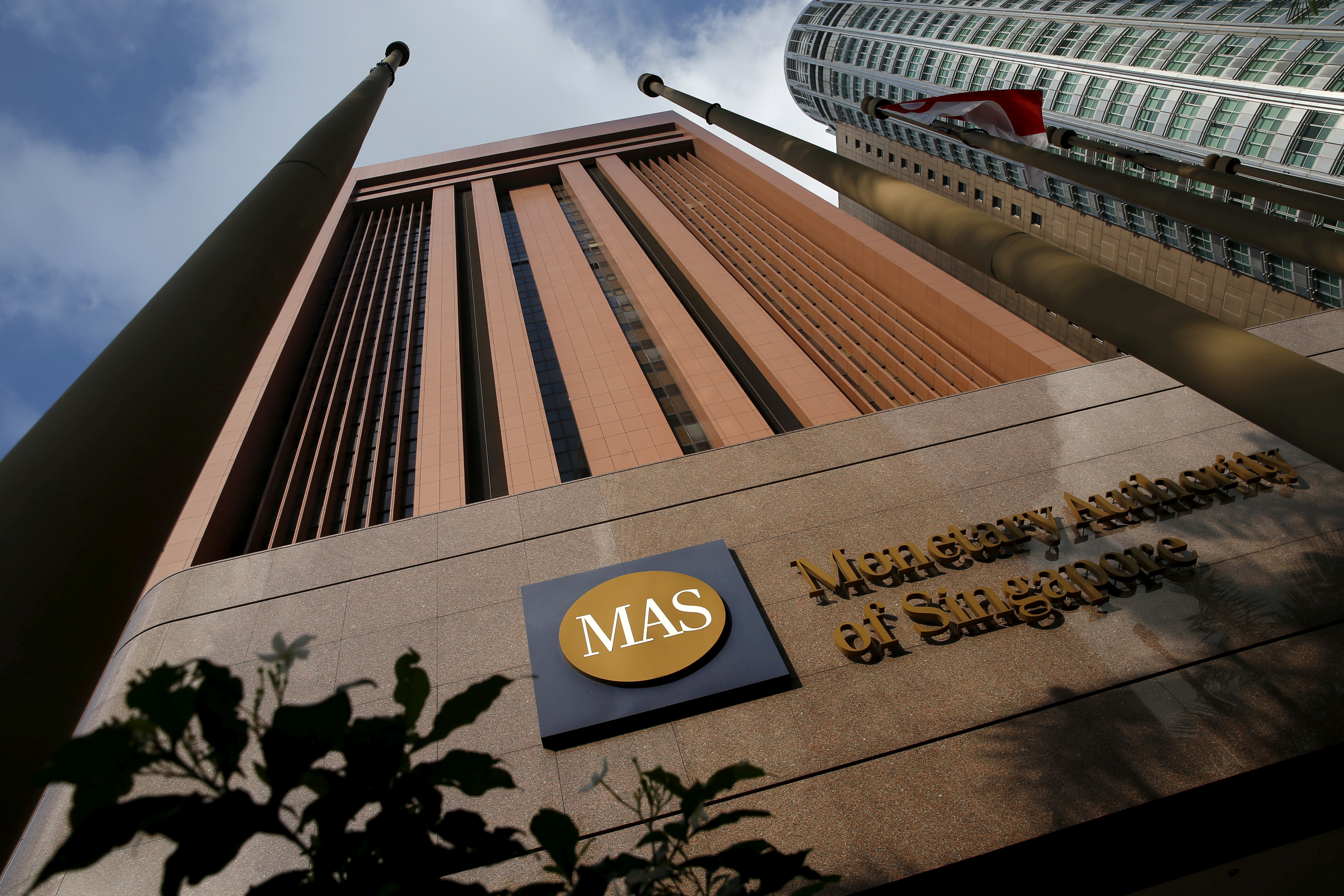 A view of the Monetary Authority of Singapore building in Singapore April 18, 2016.