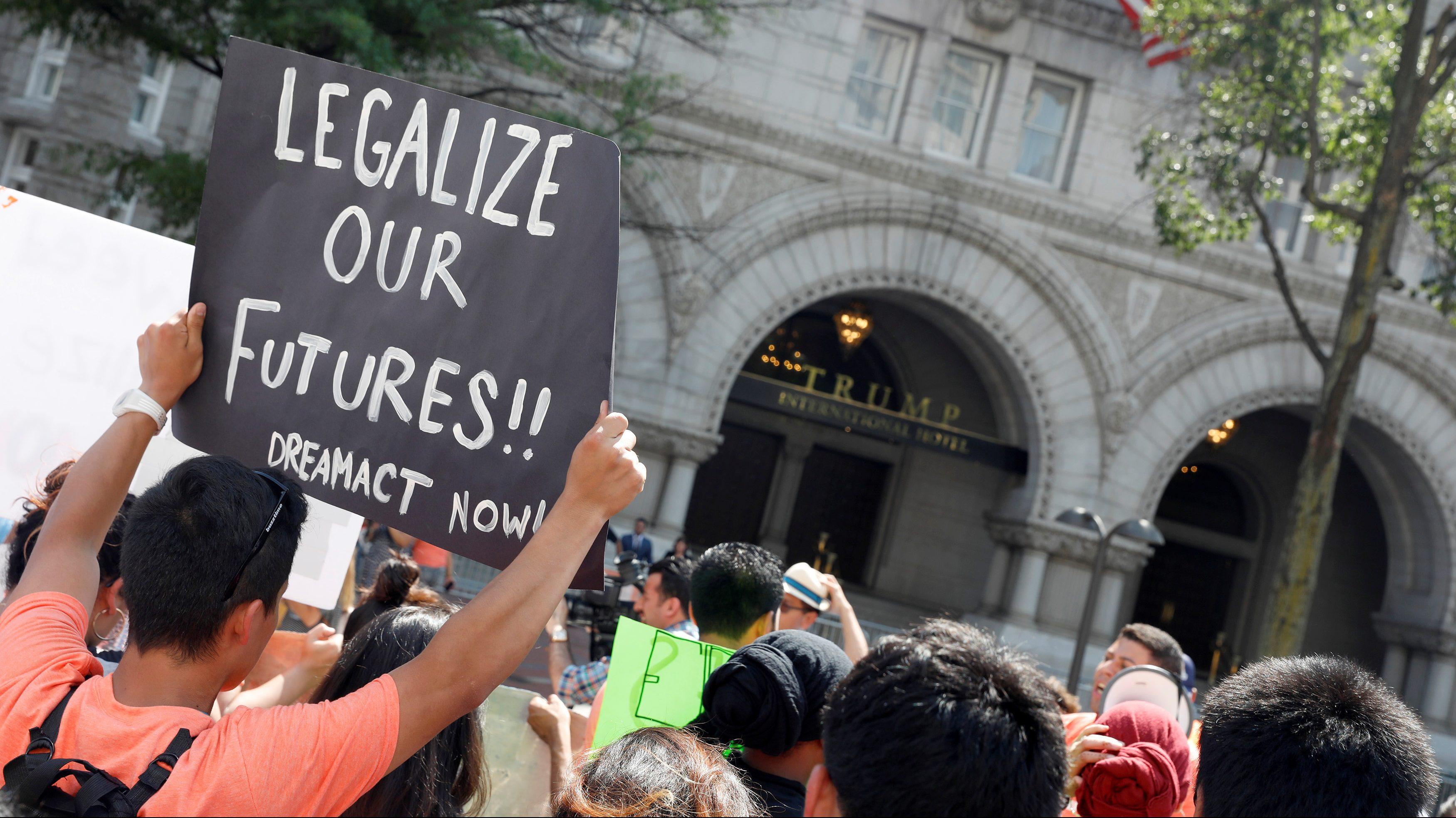 Protests against trumps decision to terminate daca