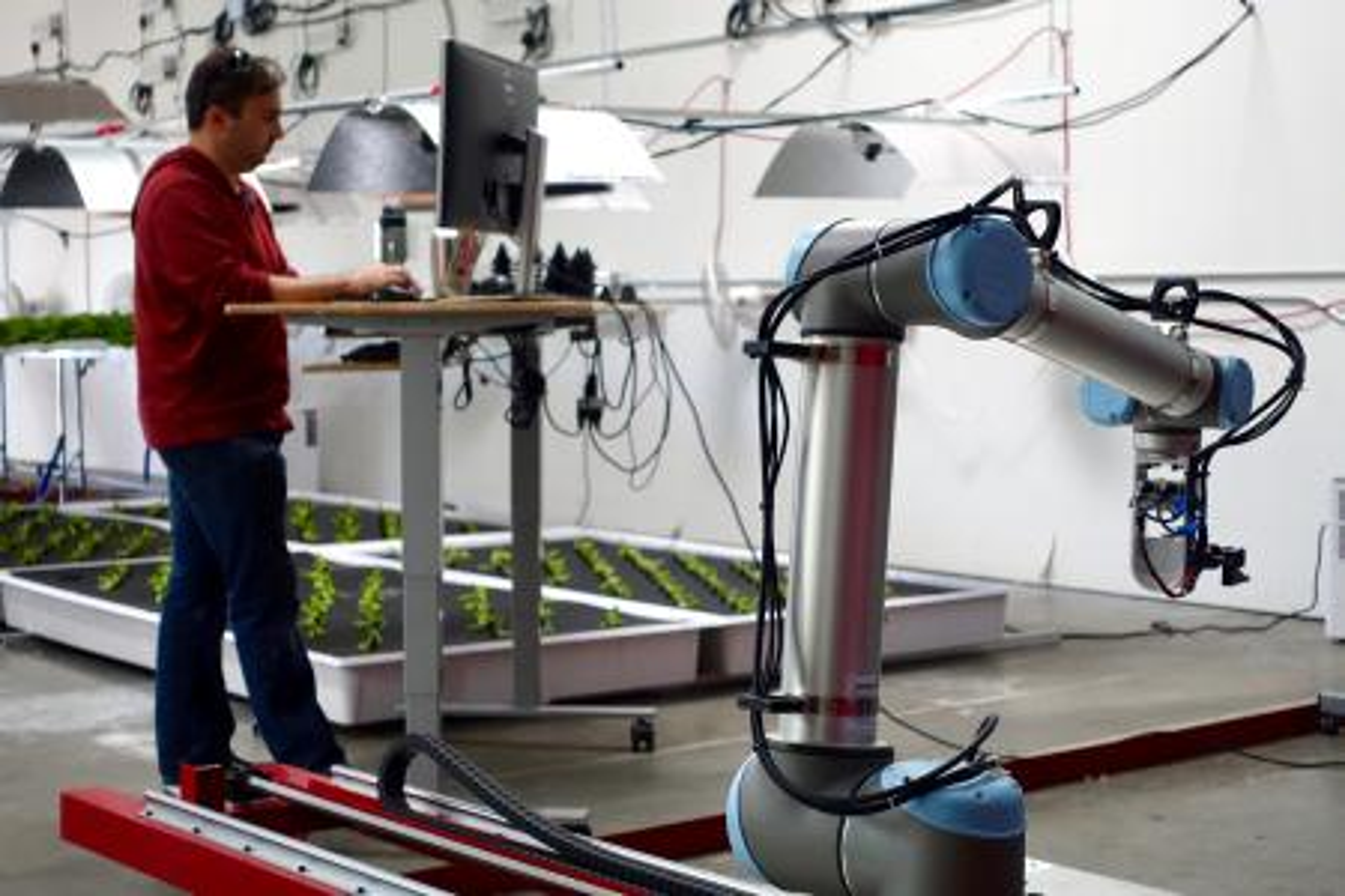 Iron ox farming robots