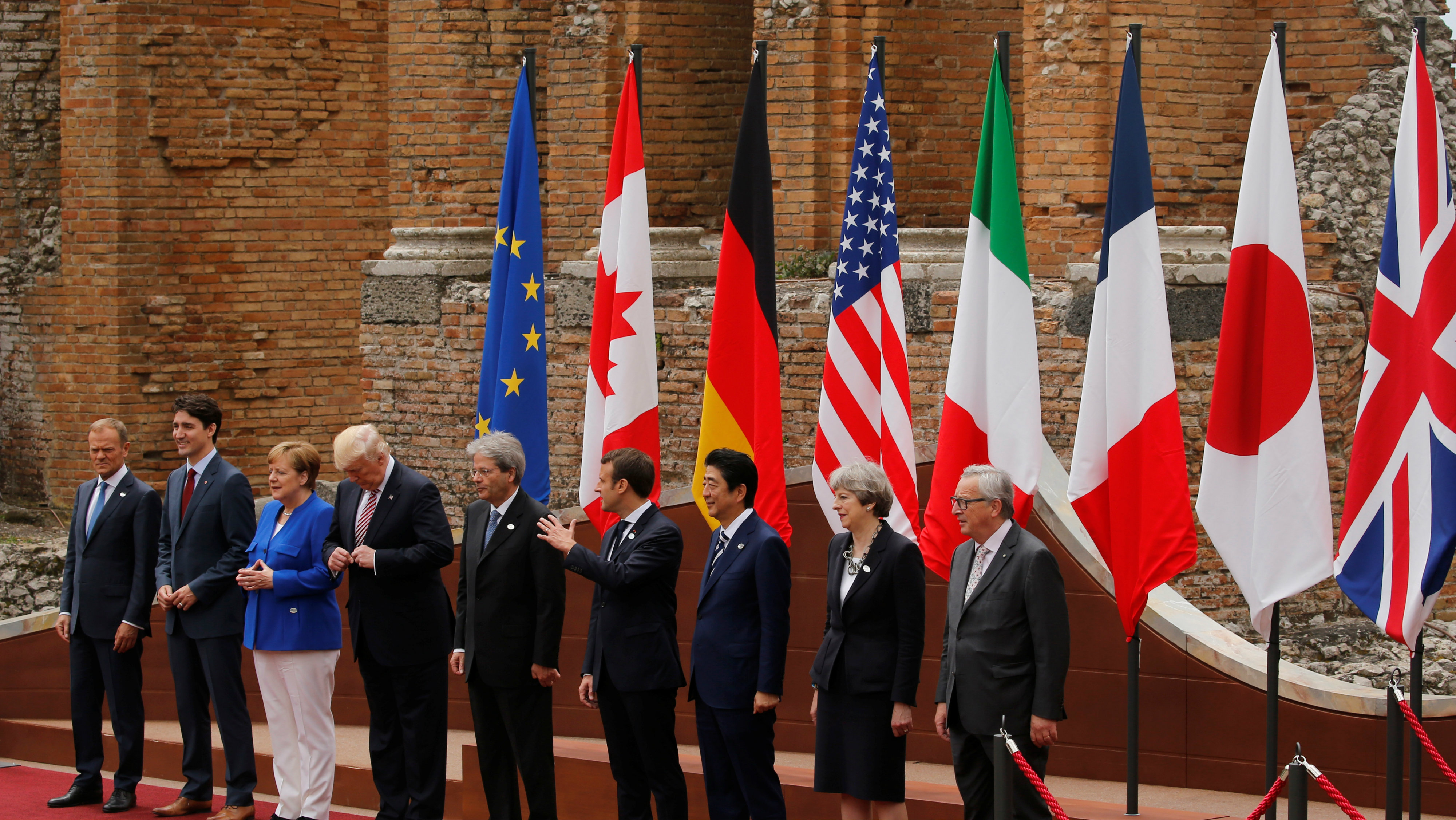 G7 leaders at summit in Sicily in 2017