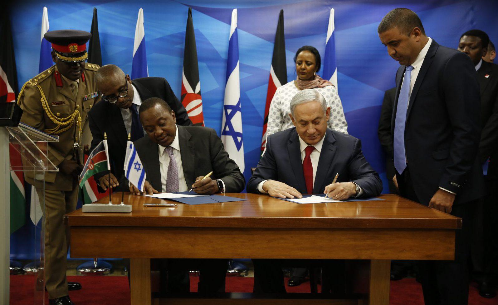 Uhuru Kenyetta and Benjamin Netanyahu