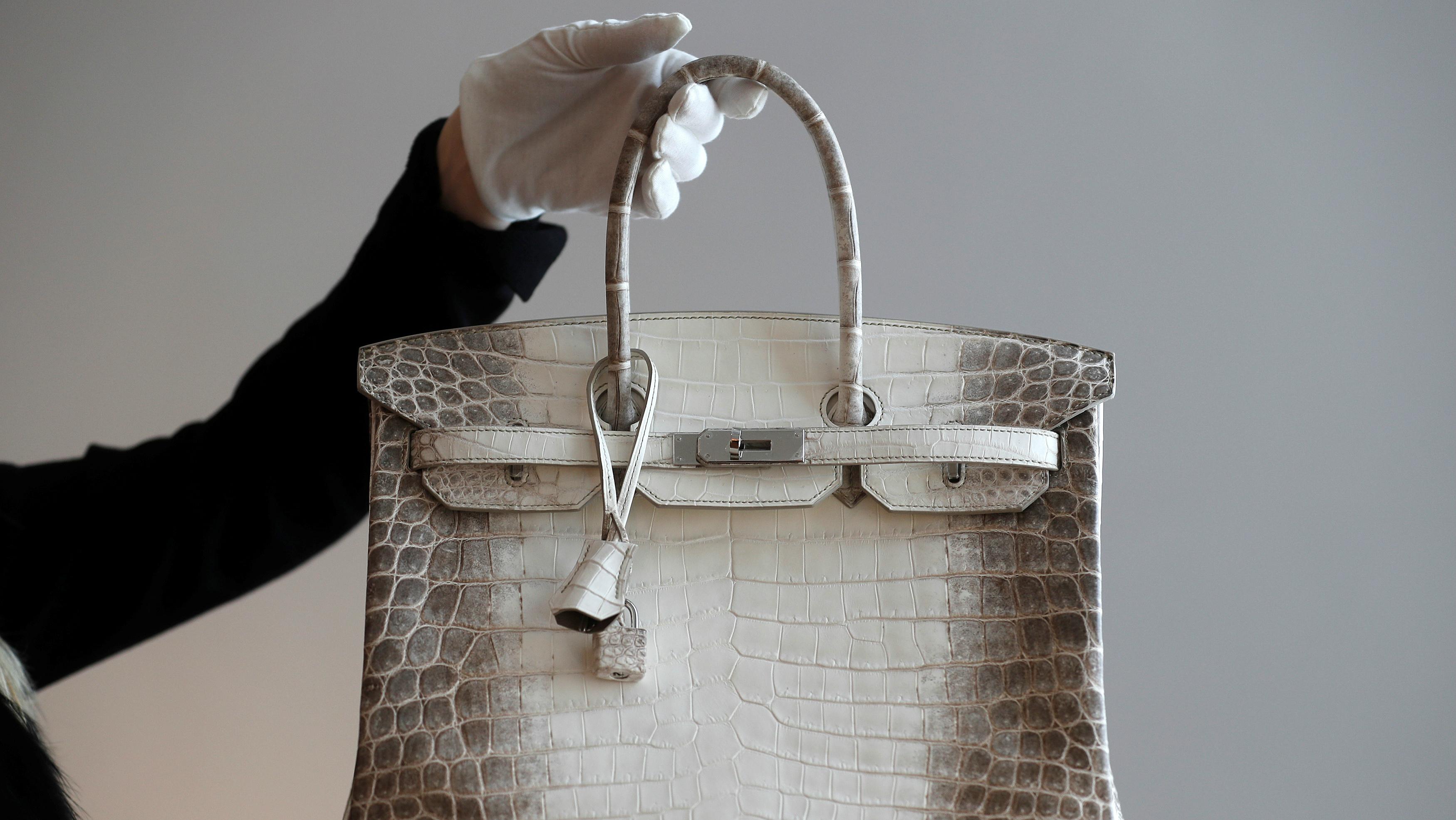 A hermes bag.