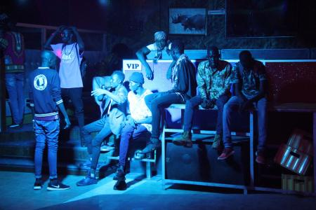 A group of young men at Club Signature in Juba.