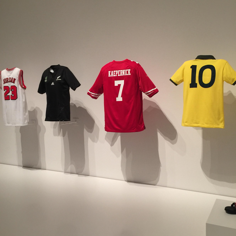 Kaepernick jersey in MoMA