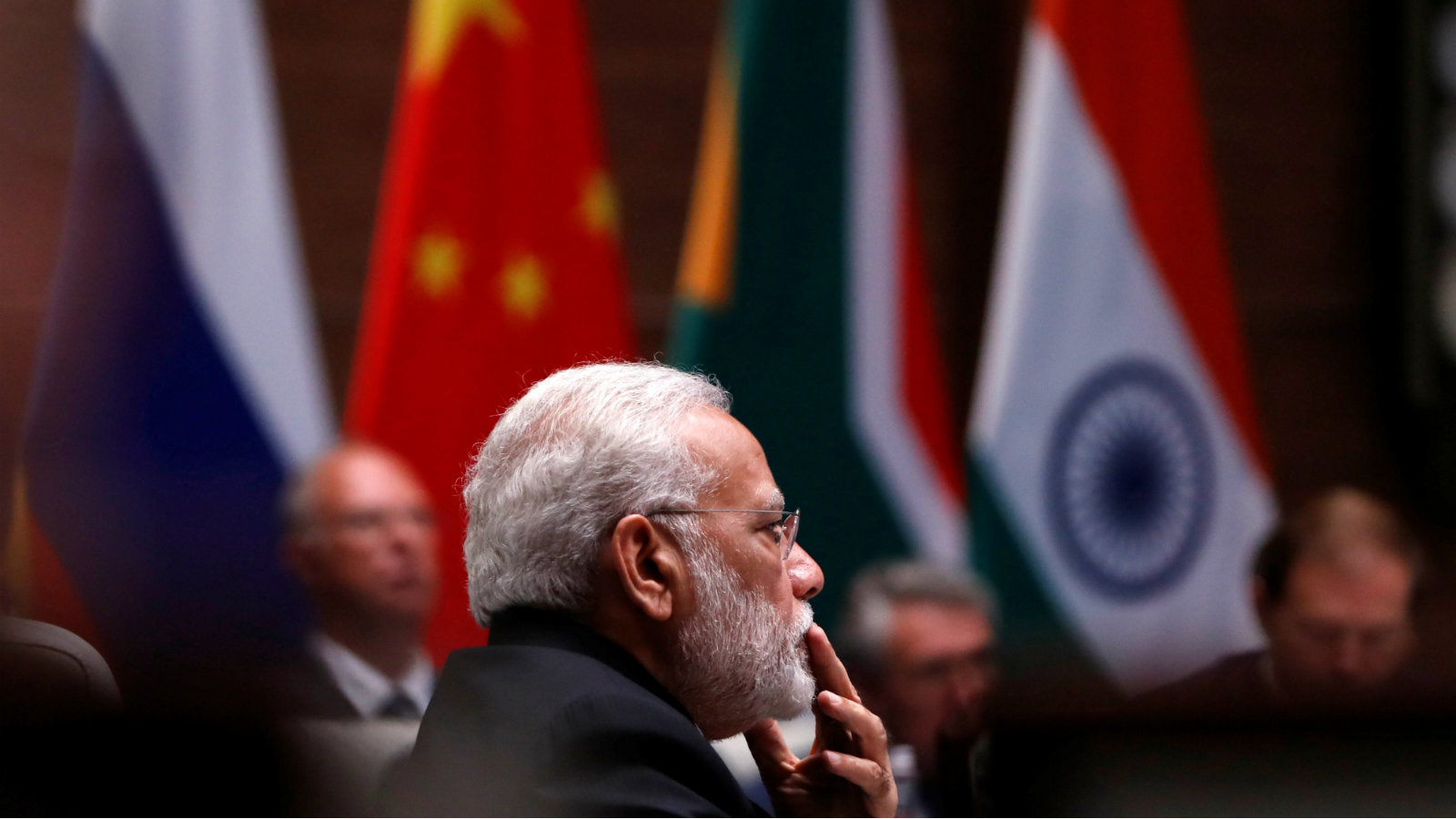 Indian Prime Minister Narendra Modi attends a plenary session of BRICS (Brazil, Russia, India, China and South Africa) Summit, in Xiamen, China September 4, 2017.