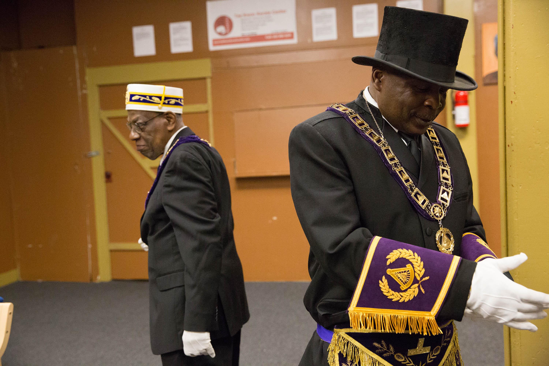Sons of Haiti Masonic Lodge, Portland, Oregon, 2016 in Mfon: Women Photographers of the African Diaspora.