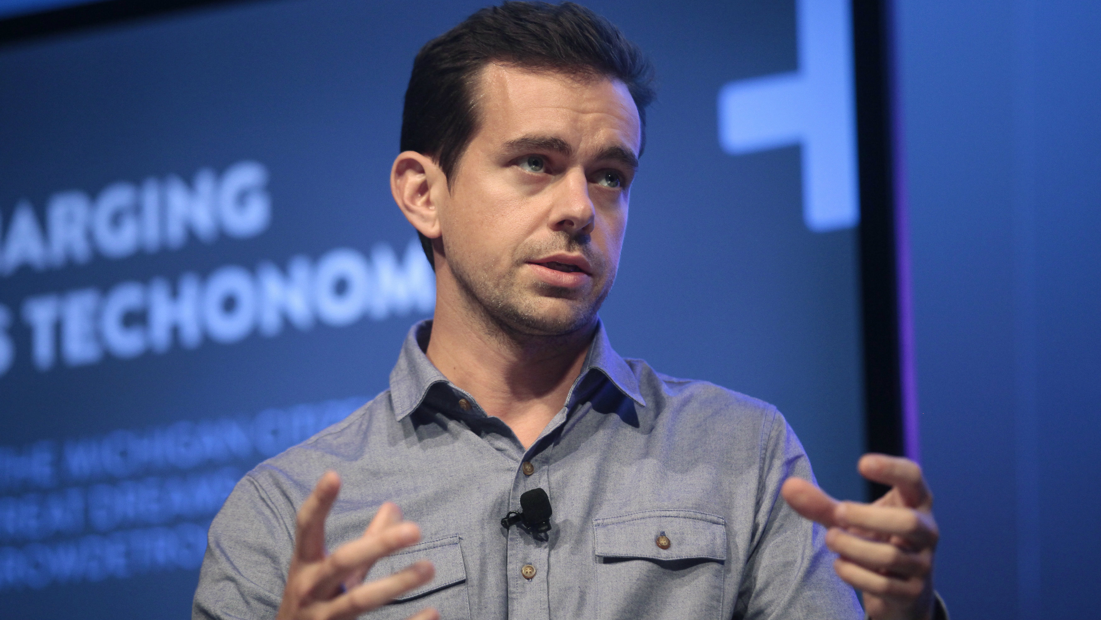 Jack Dorsey, chairman of Twitter and CEO of Square, takes part in a Techonomy Detroit panel discussion held at Wayne State University in Detroit, Michigan September 17, 2013.