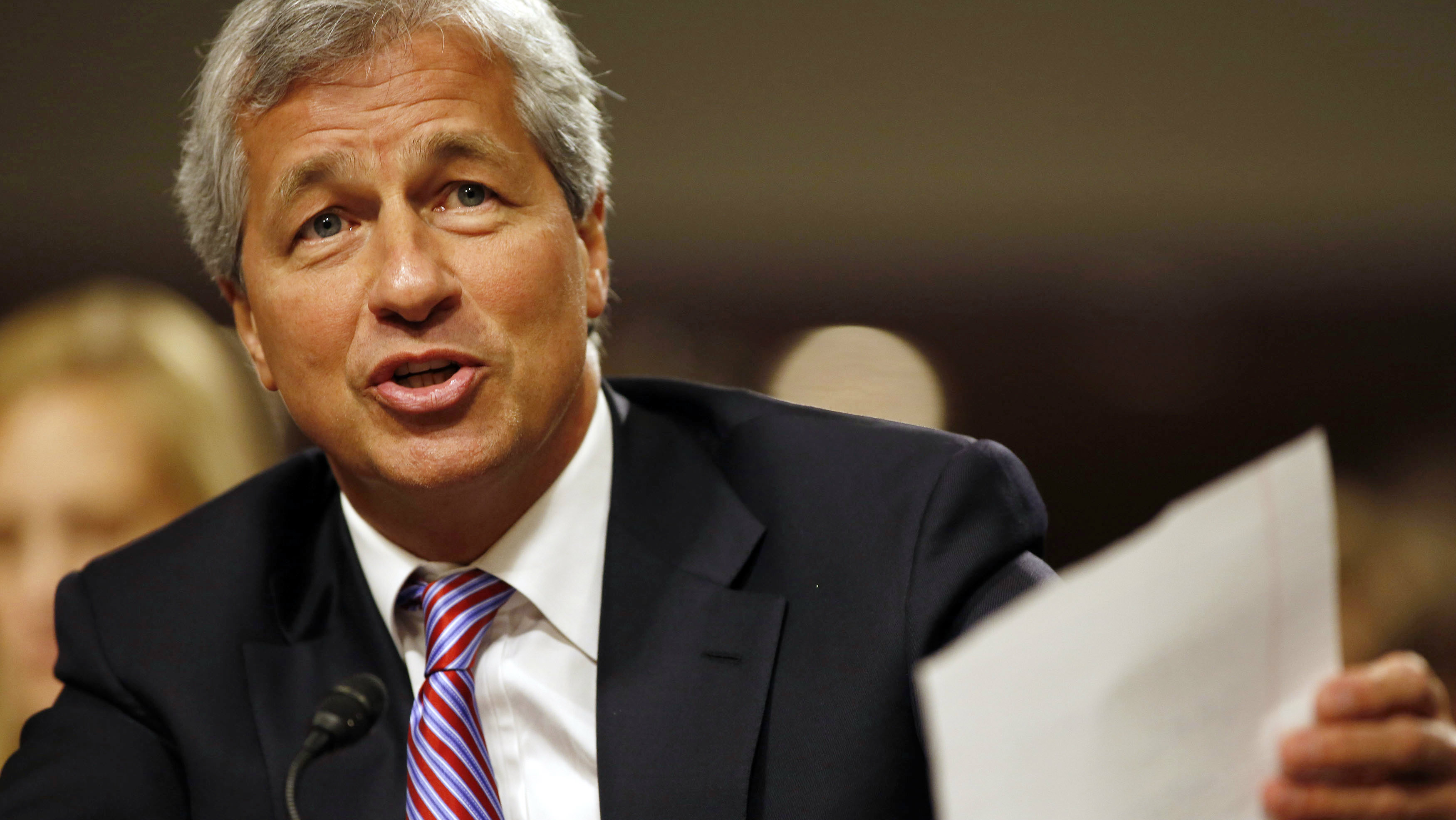 JP Morgan Chase and Company CEO Jamie Dimon answers a question at the U.S. Senate Banking, Housing and Urban Affairs Committee hearing on Capitol Hill in Washington DC, June 13, 2012.