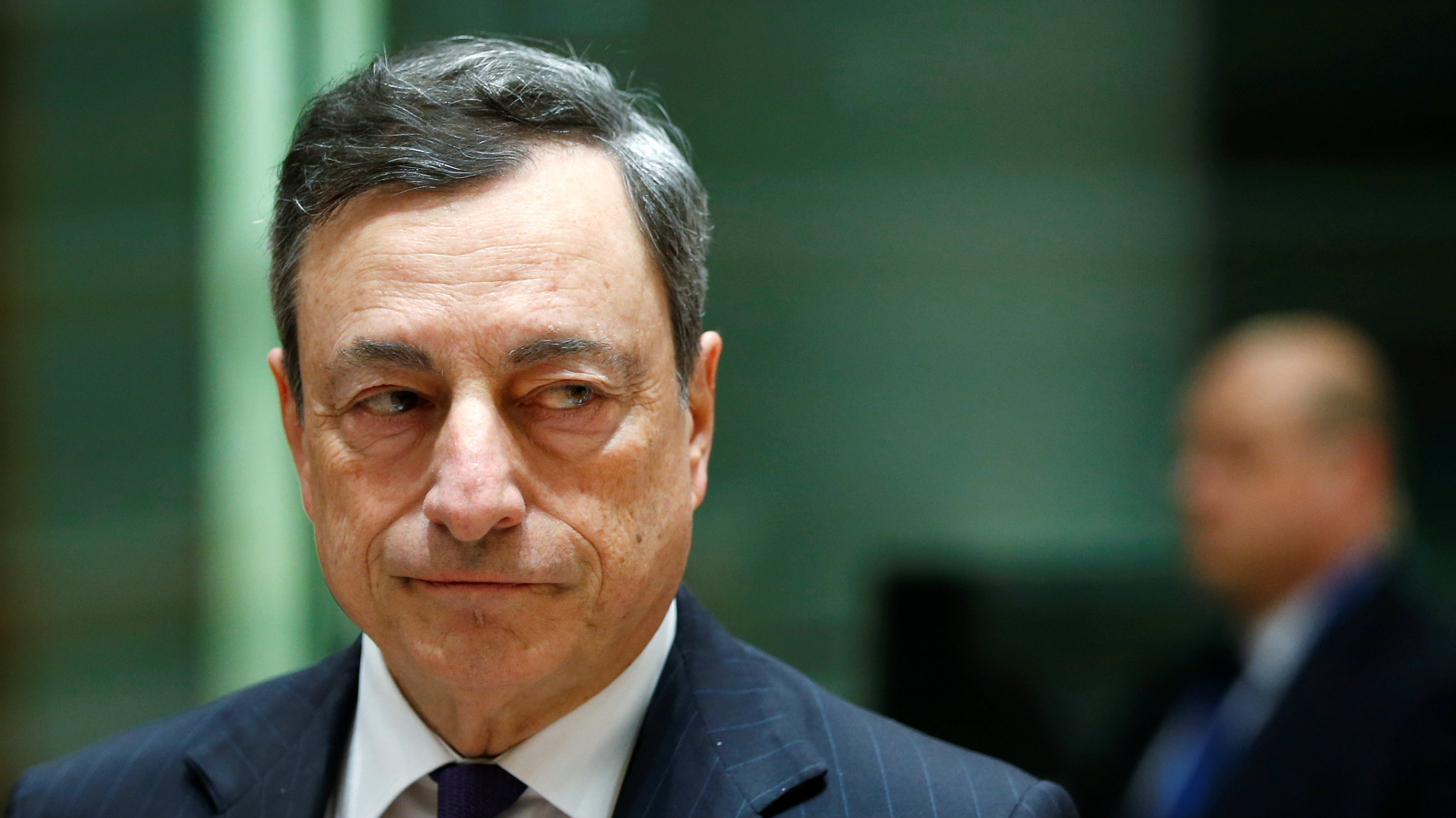 European Central Bank (ECB) President Mario Draghi attends a eurozone finance ministers meeting in Brussels, Belgium February 20, 2017.