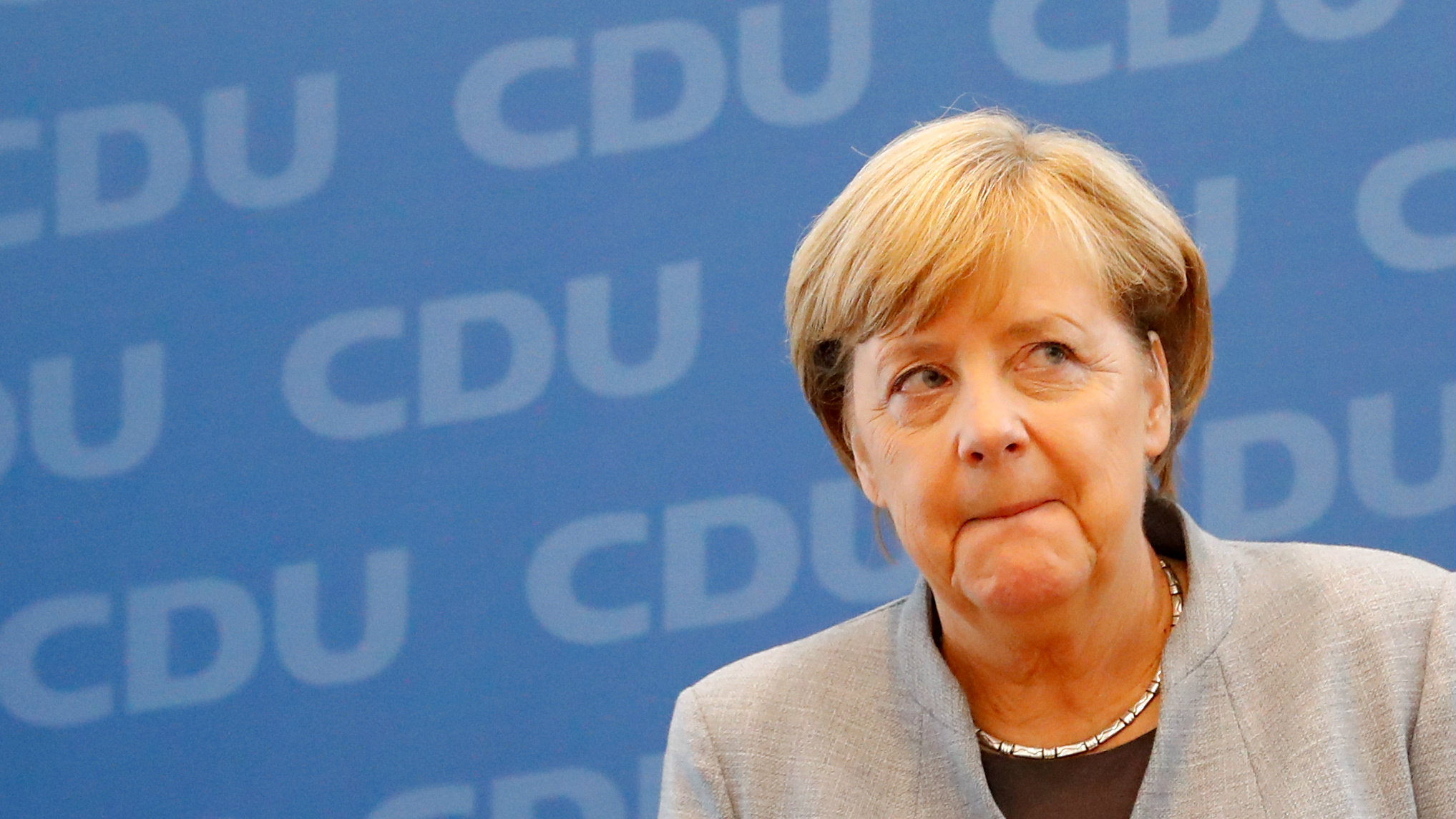 German Chancellor Angela Merkel after 2017 election