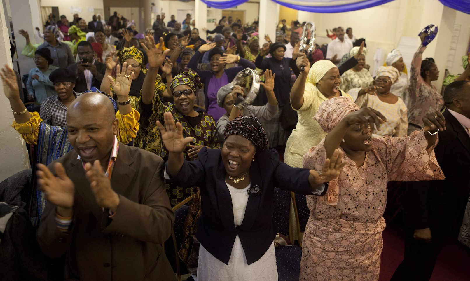 The Mountain of Fire and Miracles Ministries Church, a Pentecostal church started in Nigeria has expanded across the UK. This church in Hackney Wick, operates out of an old factory building.