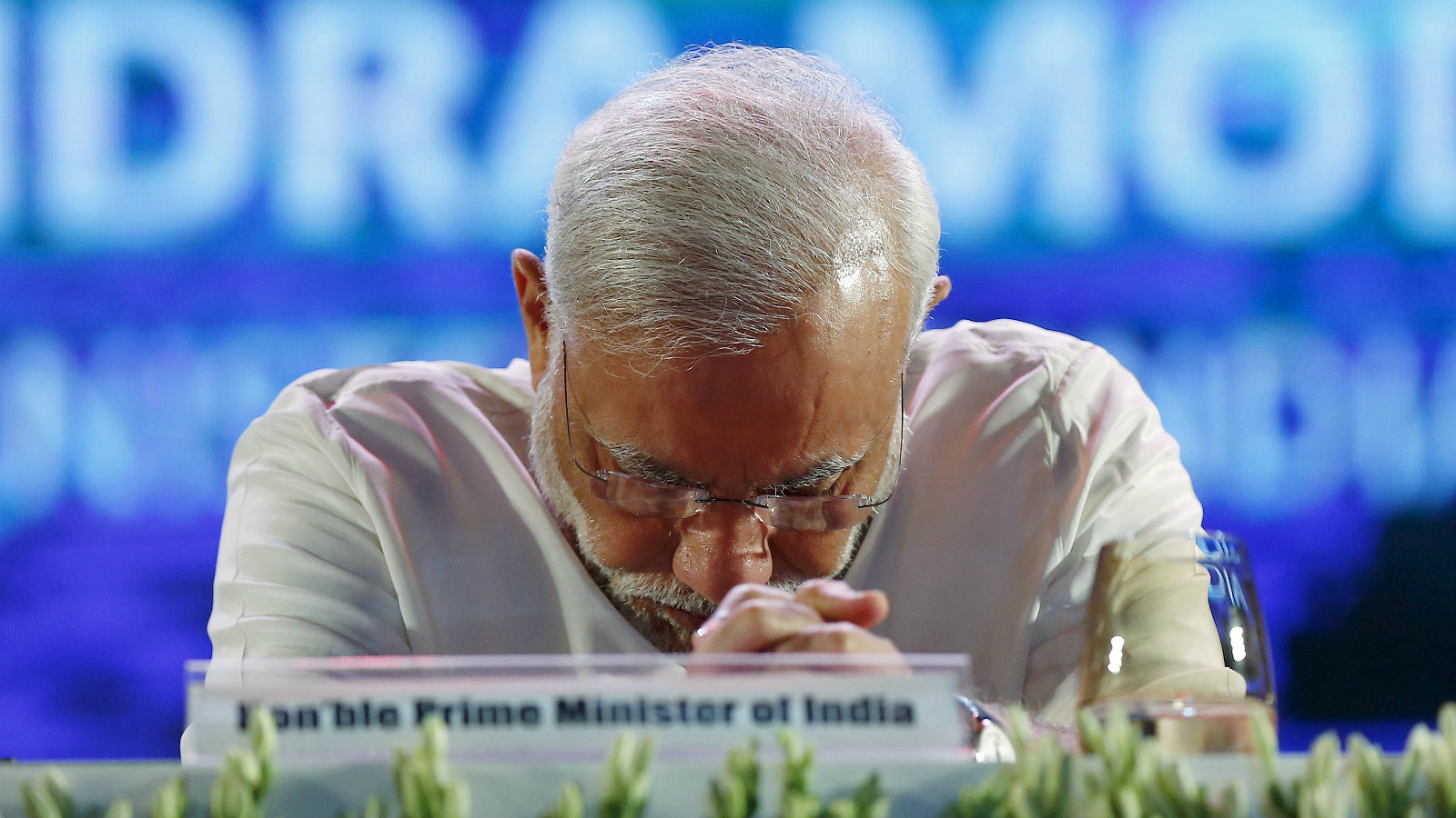 """Indian Prime Minister Narendra Modi attends the launch of """"Digital India Week"""" in New Delhi"""