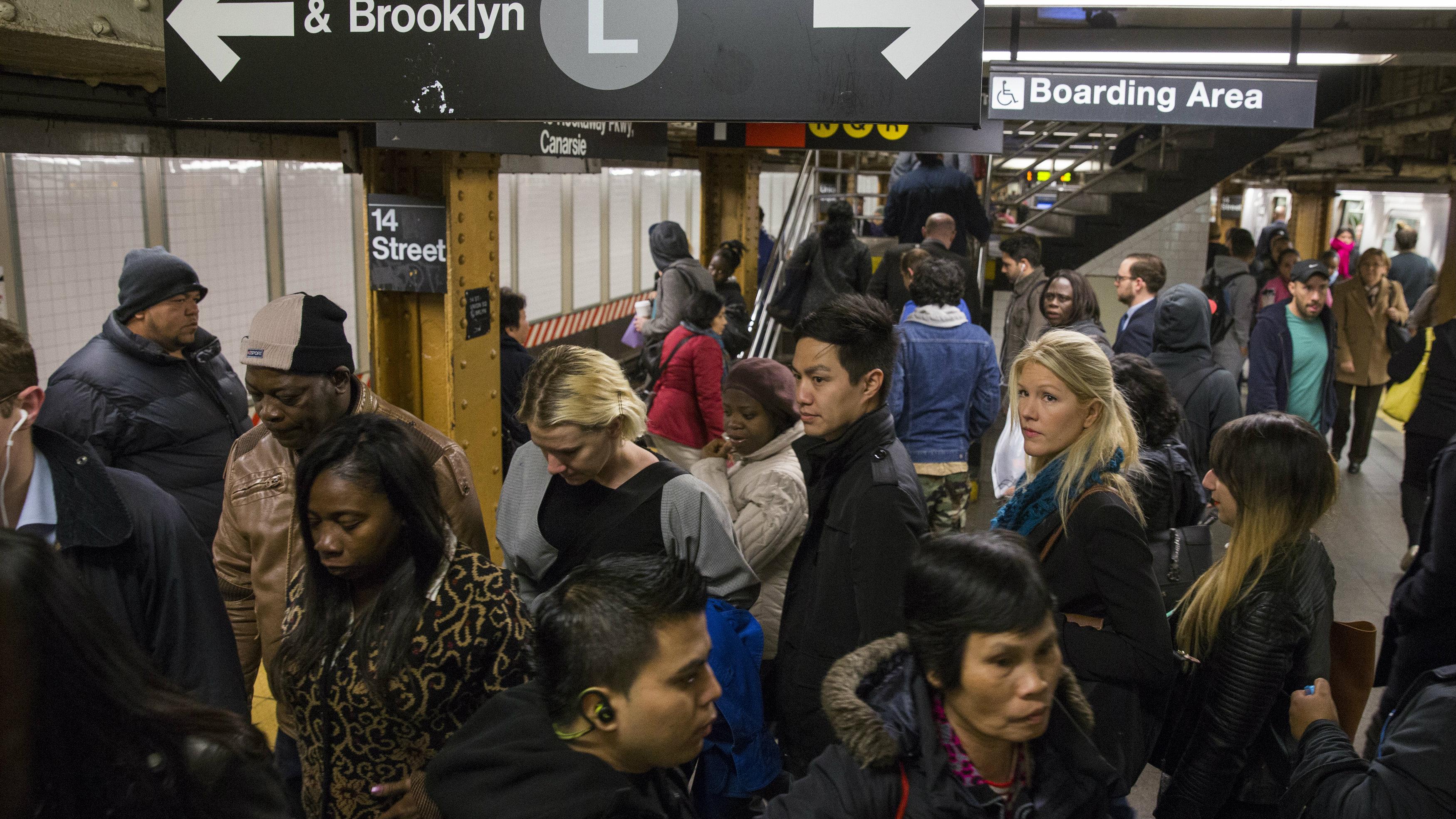 NY subway commuters