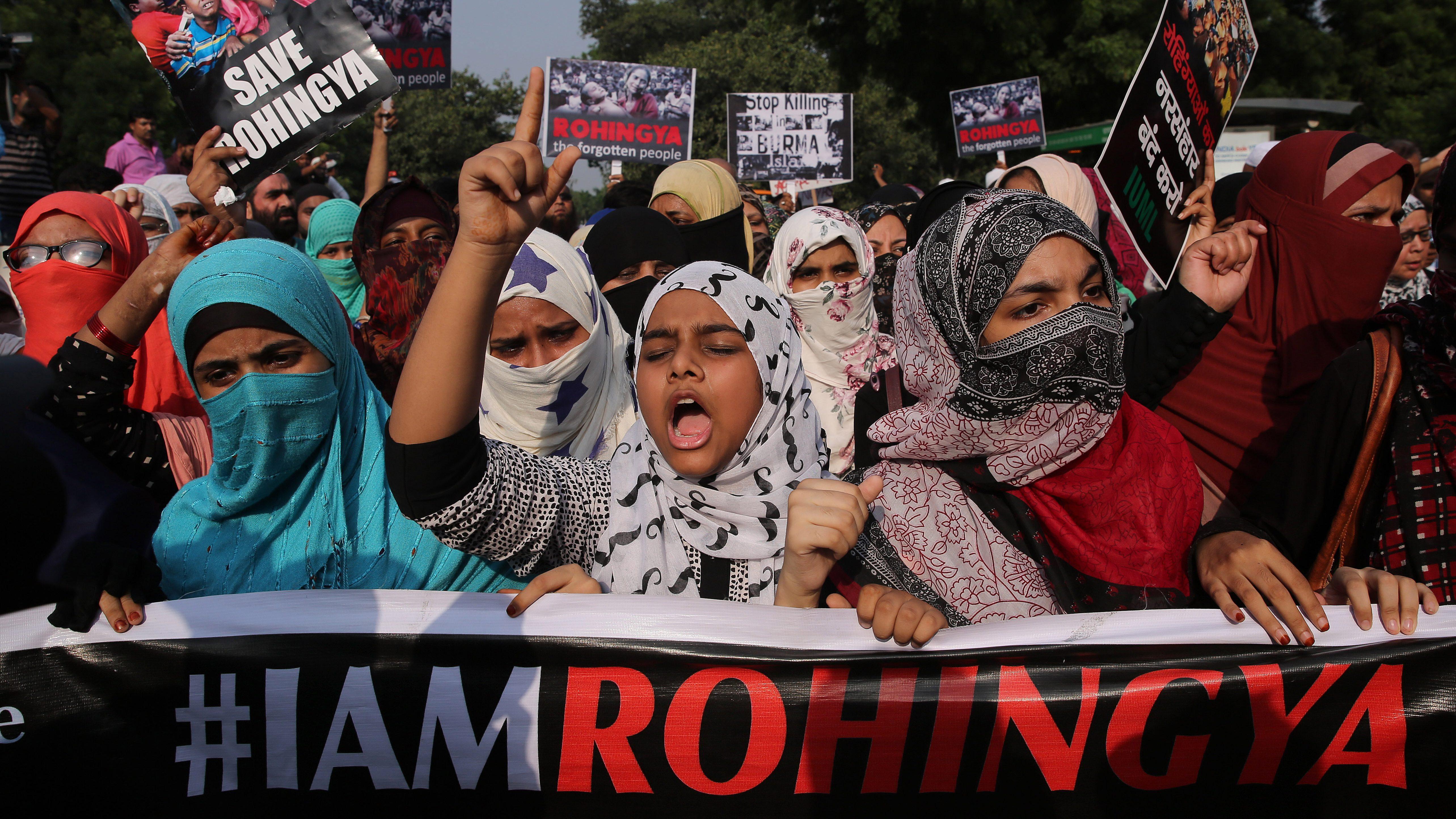 Rohingya-protest-India