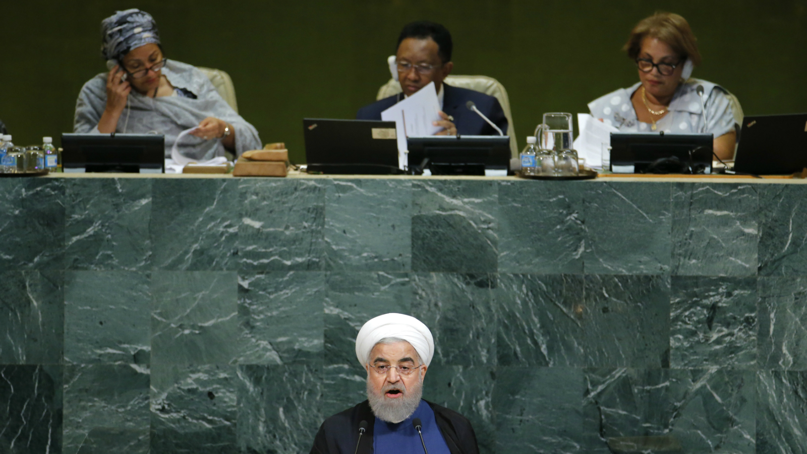 Iranian President Hassan Rouhani addresses the 72nd United Nations General Assembly at U.N. headquarters in New York,