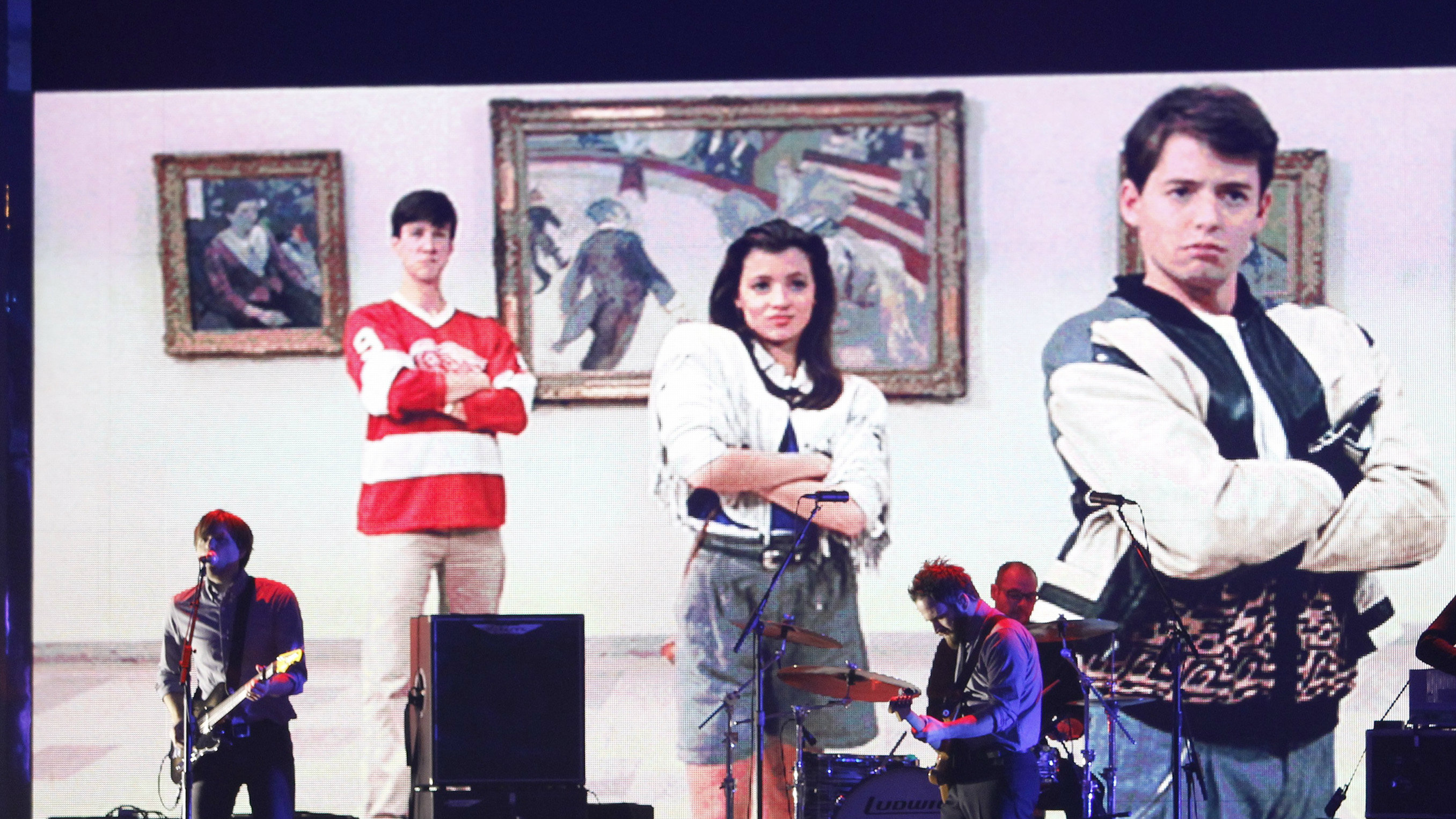 "A scene from the film ""Ferris Bueller's Day Off"" is shown during a John Hughes tribute at the 15th Critics'."