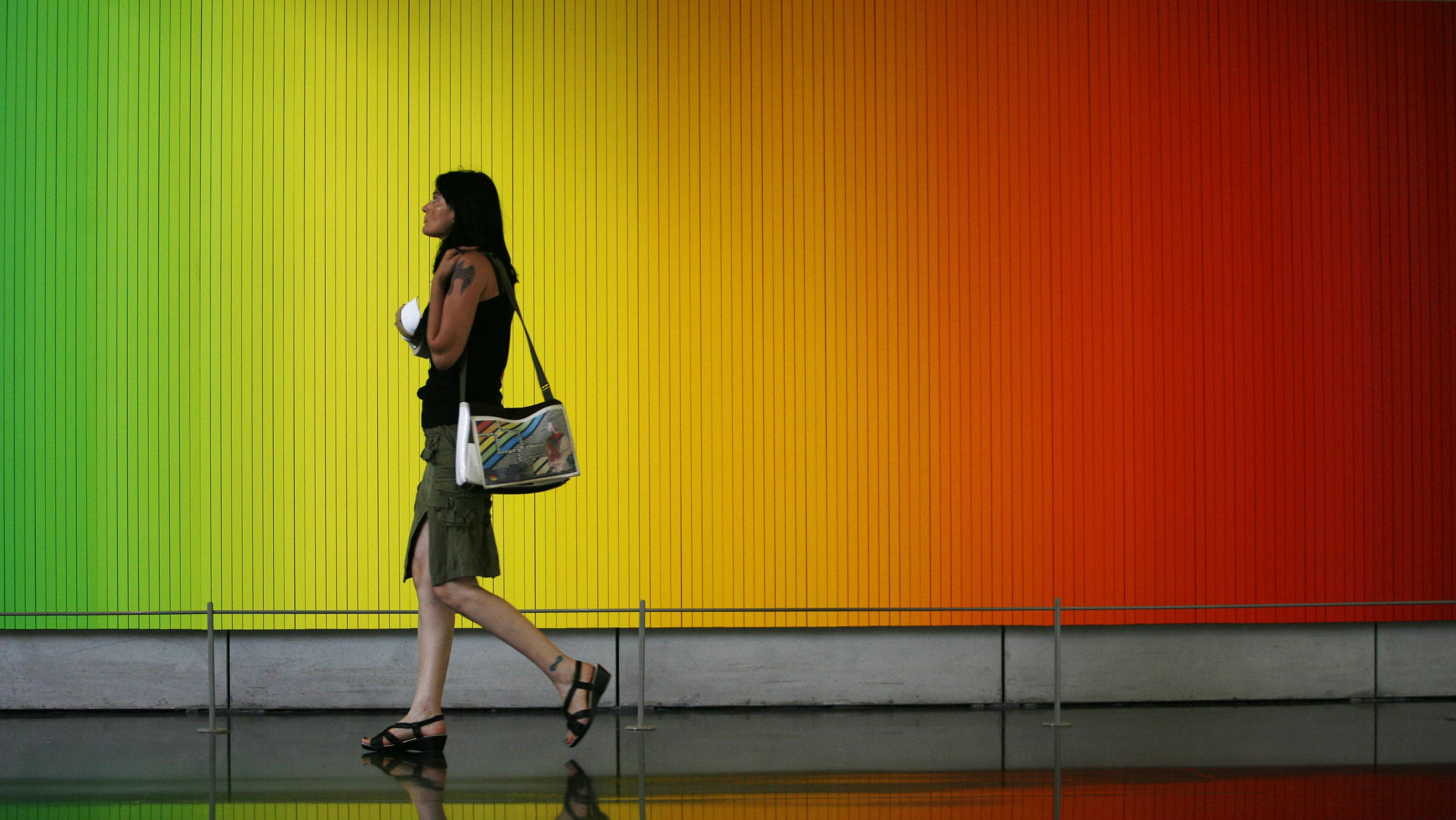 "Olafur Eliasson, ""Whenever the rainbow appears,"" 2010, The Israel Museum, Jerusalem—"