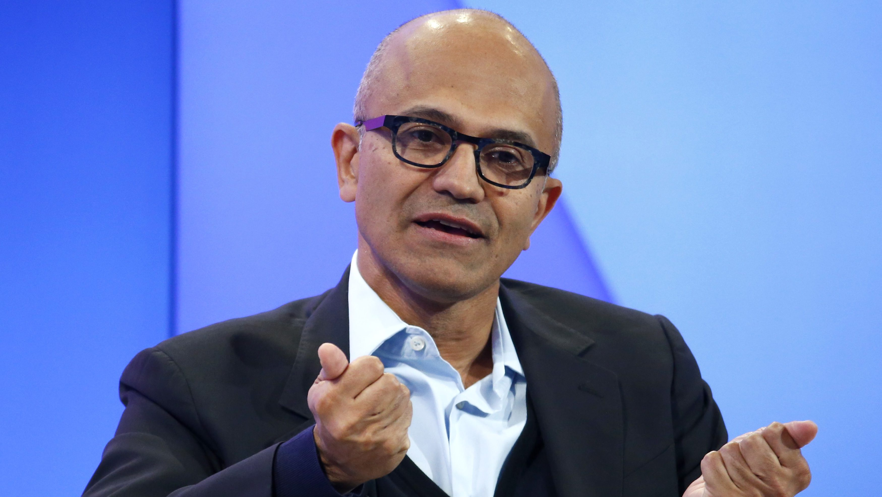 Satya Nadella, CEO of Microsoft Corporation attends the annual meeting of the World Economic Forum (WEF) in Davos, Switzerland
