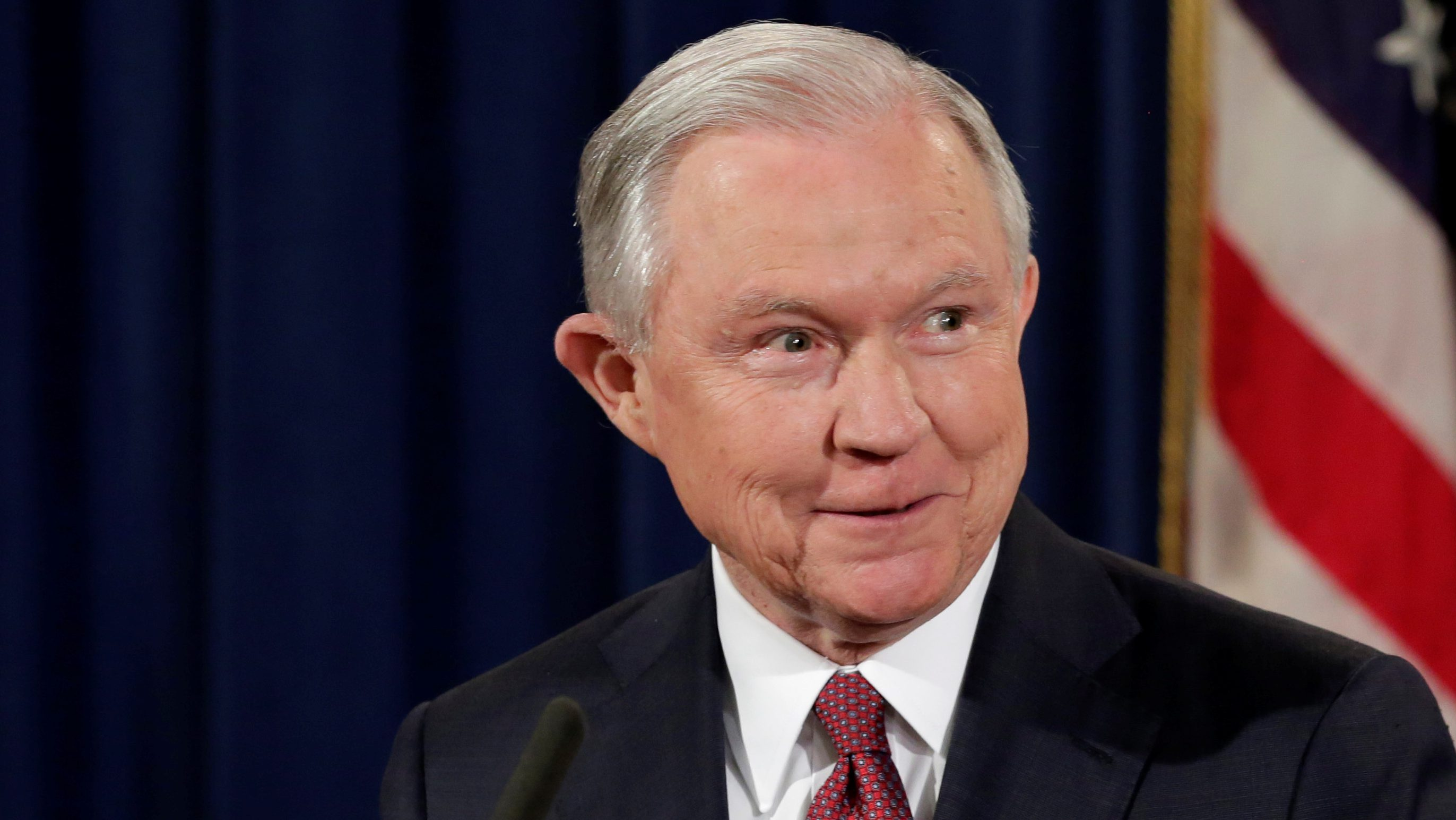 U.S. Attorney General Jeff Sessions speaks at a news conference to address the Deferred Action for Childhood Arrivals (DACA) program at the Justice Department in Washington