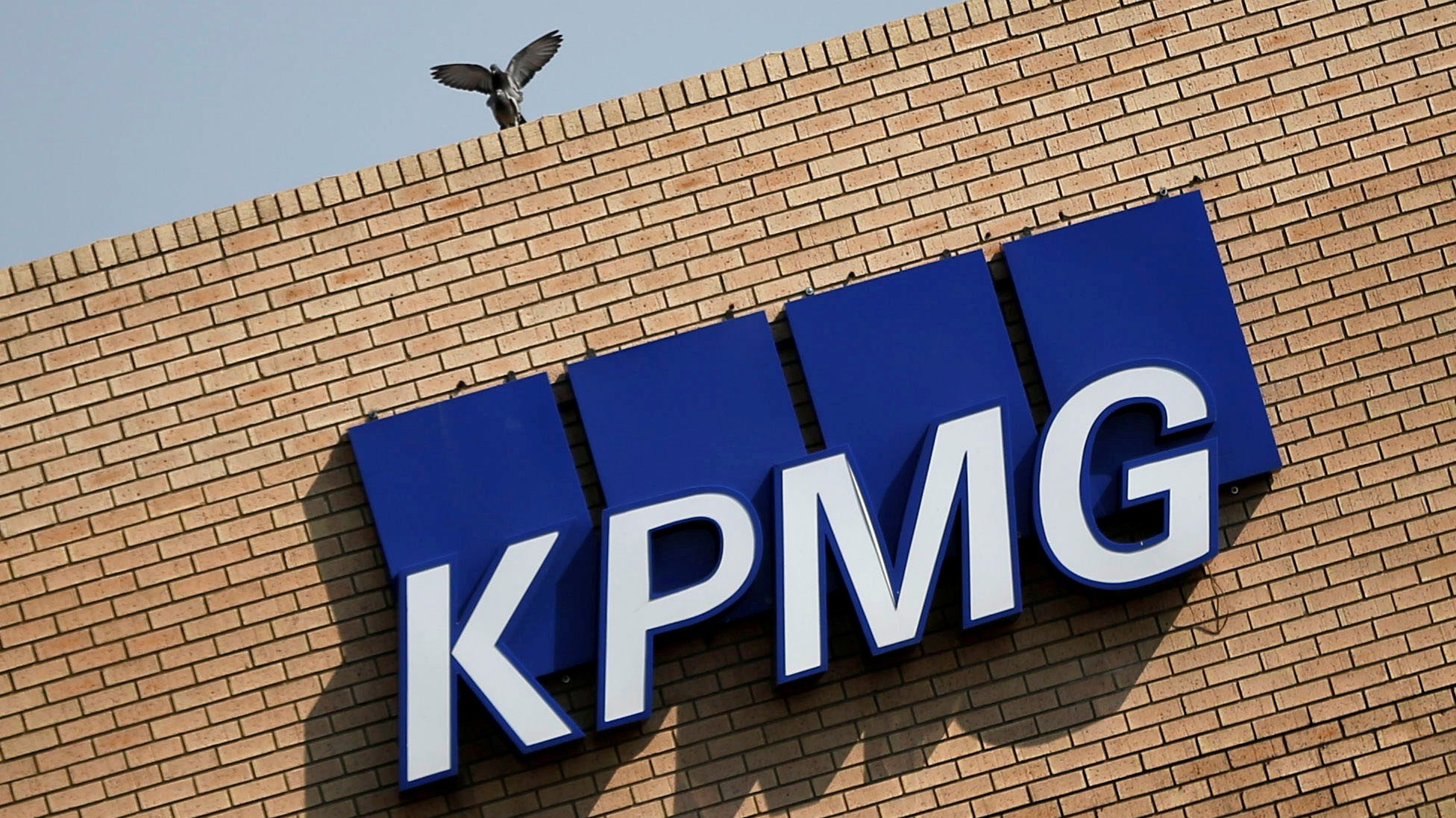 FILE PHOTO:The KPMG logo is seen at the company's head offices in Parktown, Johannesburg