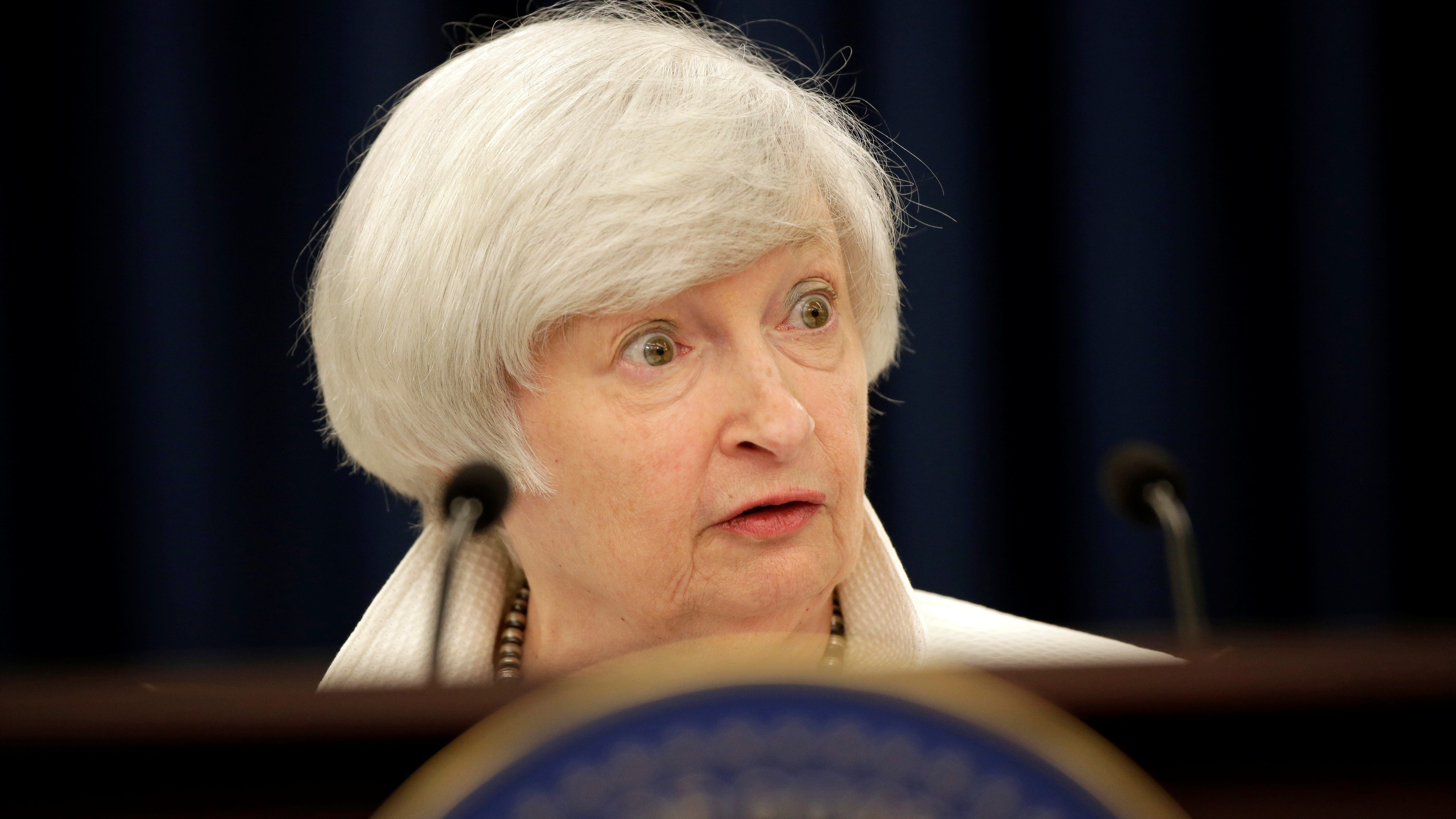 Federal Reserve Chairman Janet Yellen speaks during a news conference after a two-day Federal Open Markets Committee (FOMC) policy meeting, in Washington