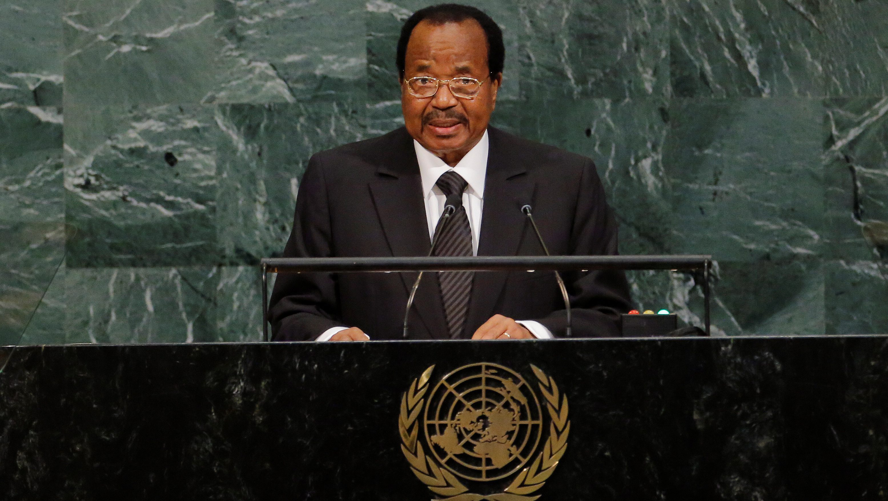 President of Cameroon, Paul Biya, addresses the 72nd United Nations General Assembly at U.N. headquarters in New York