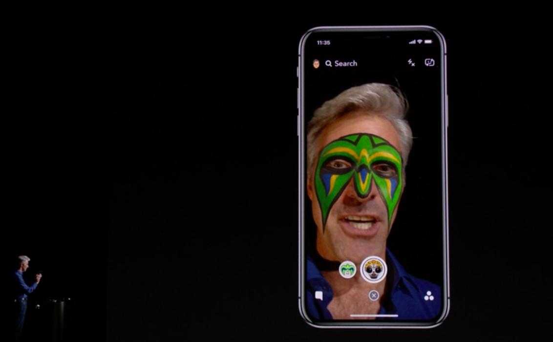 Apple exec Craig Federighi tests the tech.