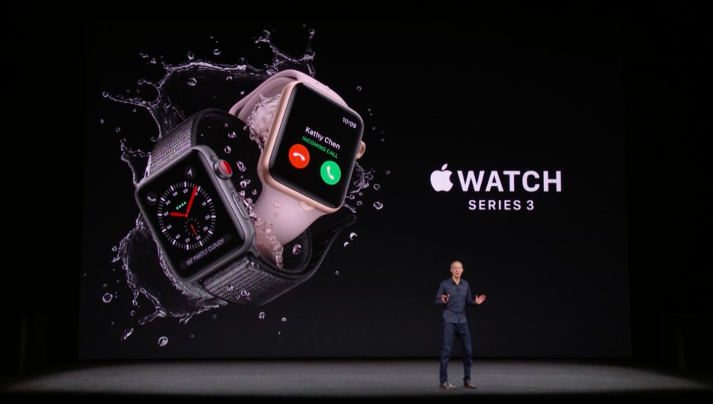 Apple presents its Watch Series 3.