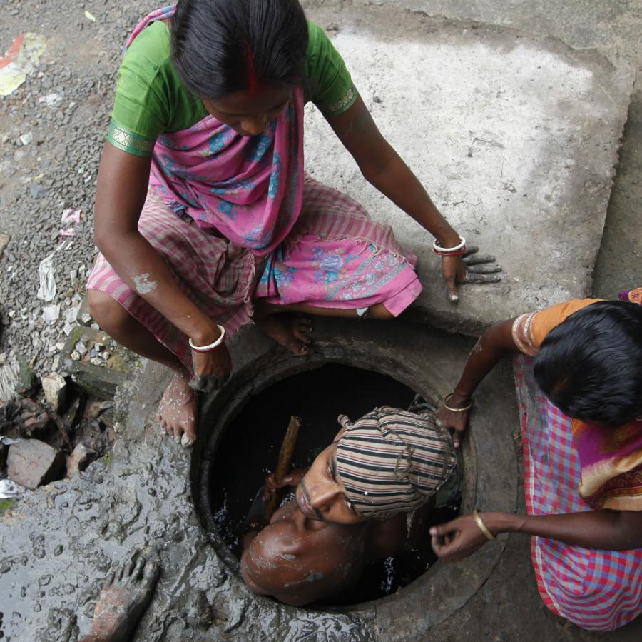 more indians die cleaning sewers than fighting terrorists in kashmir