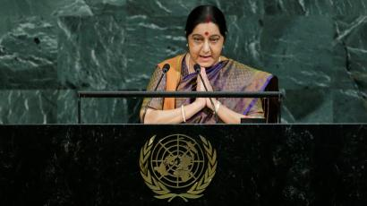 India-United Nations-Sushma Swaraj-Pakistan