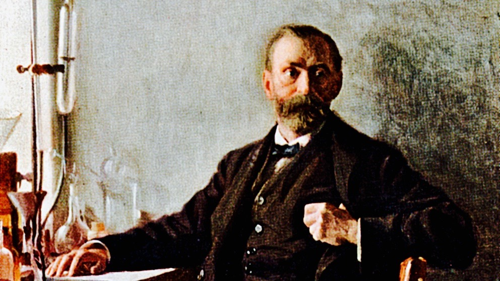 Dr. Alfred Nobel colour painting