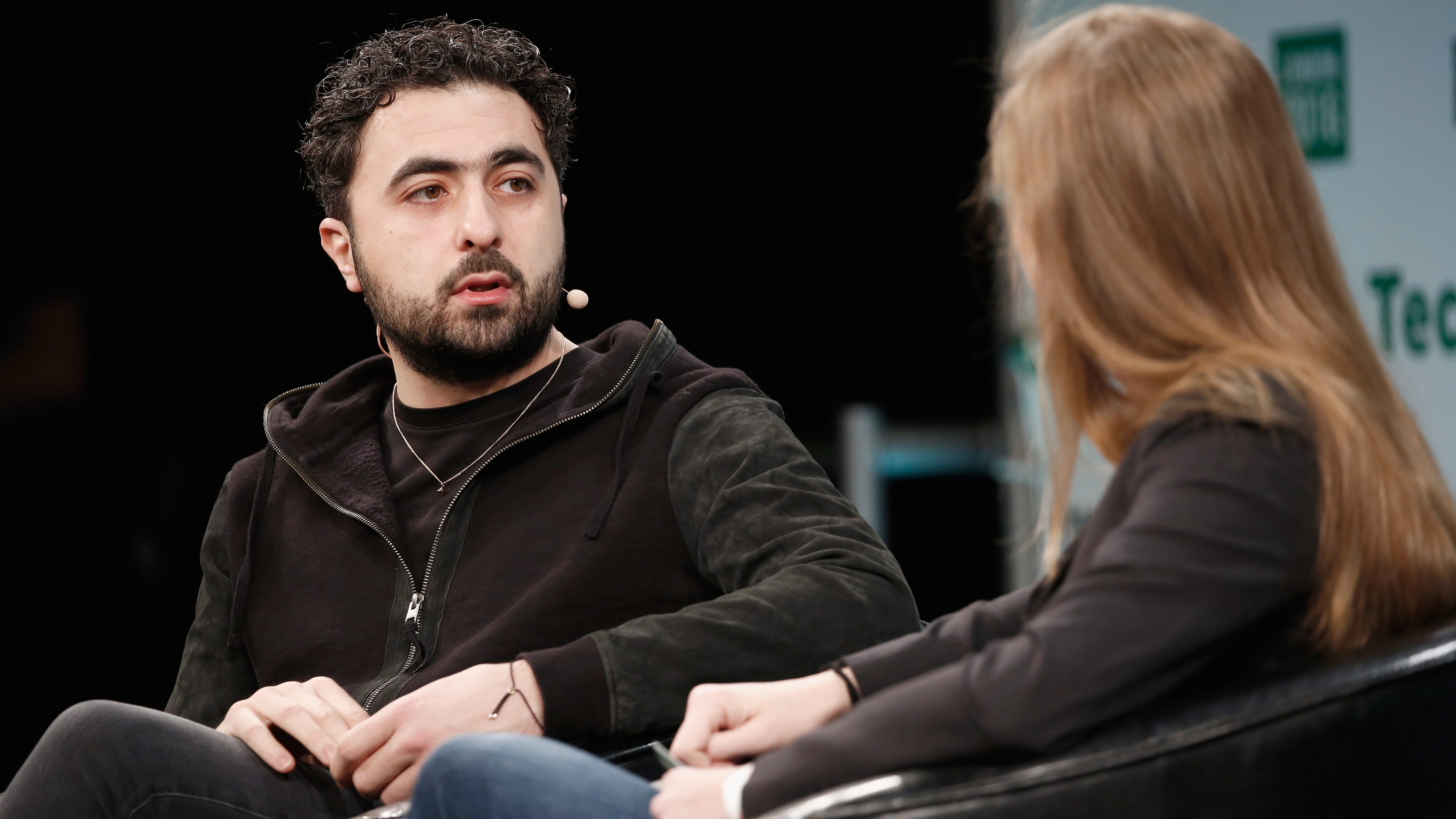 LONDON, ENGLAND - DECEMBER 05:  Co-founder of Google DeepMind Mustafa Suleyman attends a Q&A with Special Projects Editor forTechCrunch, Jordan Crook during day 1 of TechCrunch Disrupt London at the Copper Box on December 5, 2016 in London, England.  (Photo by John Phillips/Getty Images for TechCrunch) *** Local Caption *** Mustafa Suleyman;Jordan Crook
